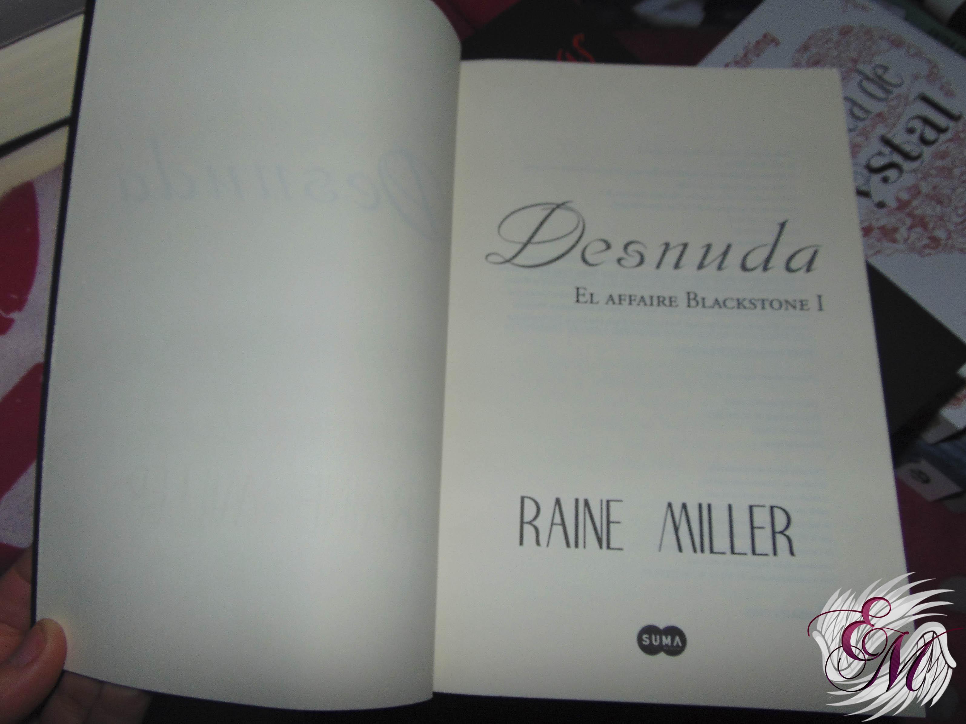Desnuda, de Raine Miller - Reseña