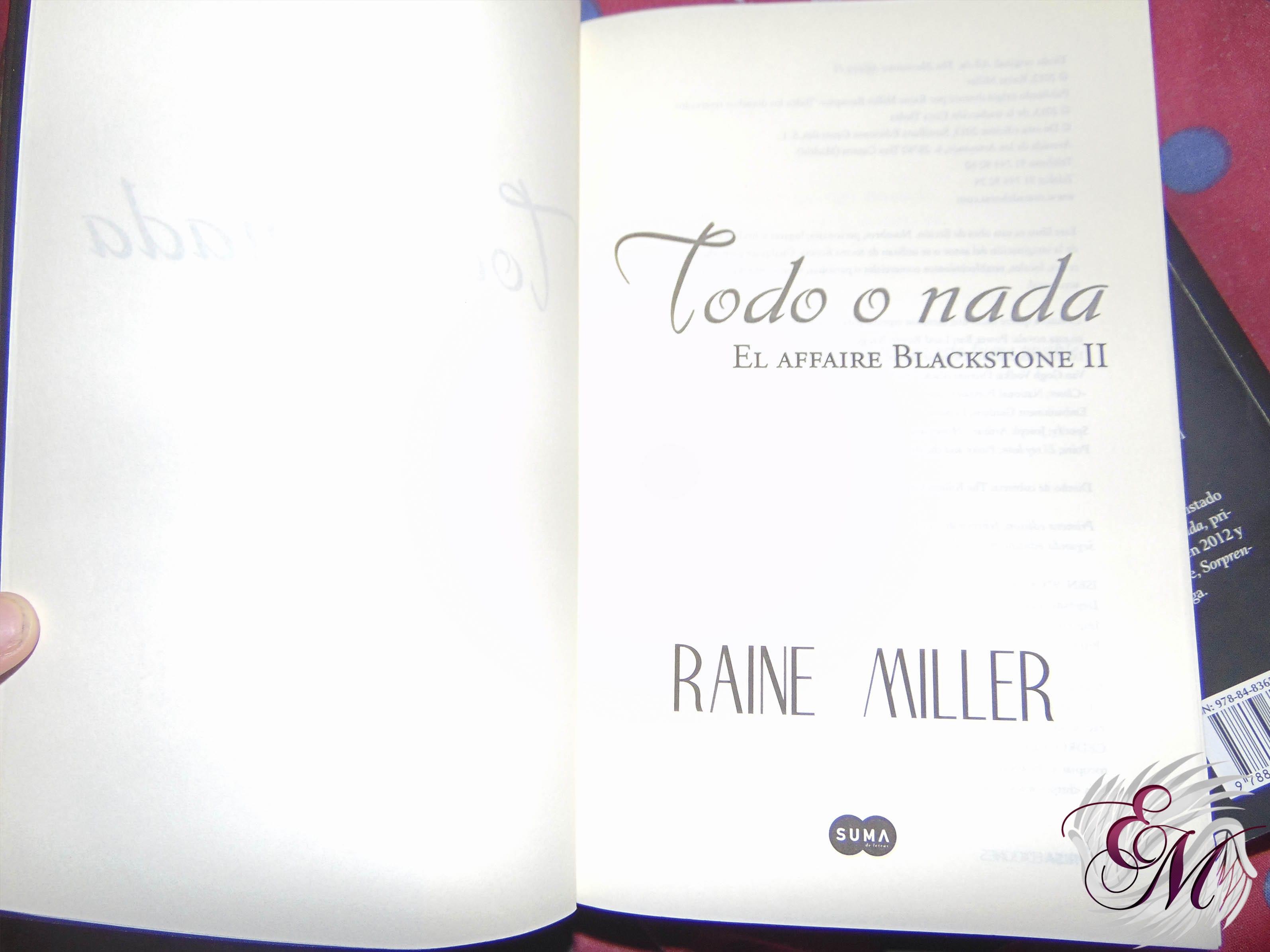 Todo o nada, de Raine Miller - Reseña