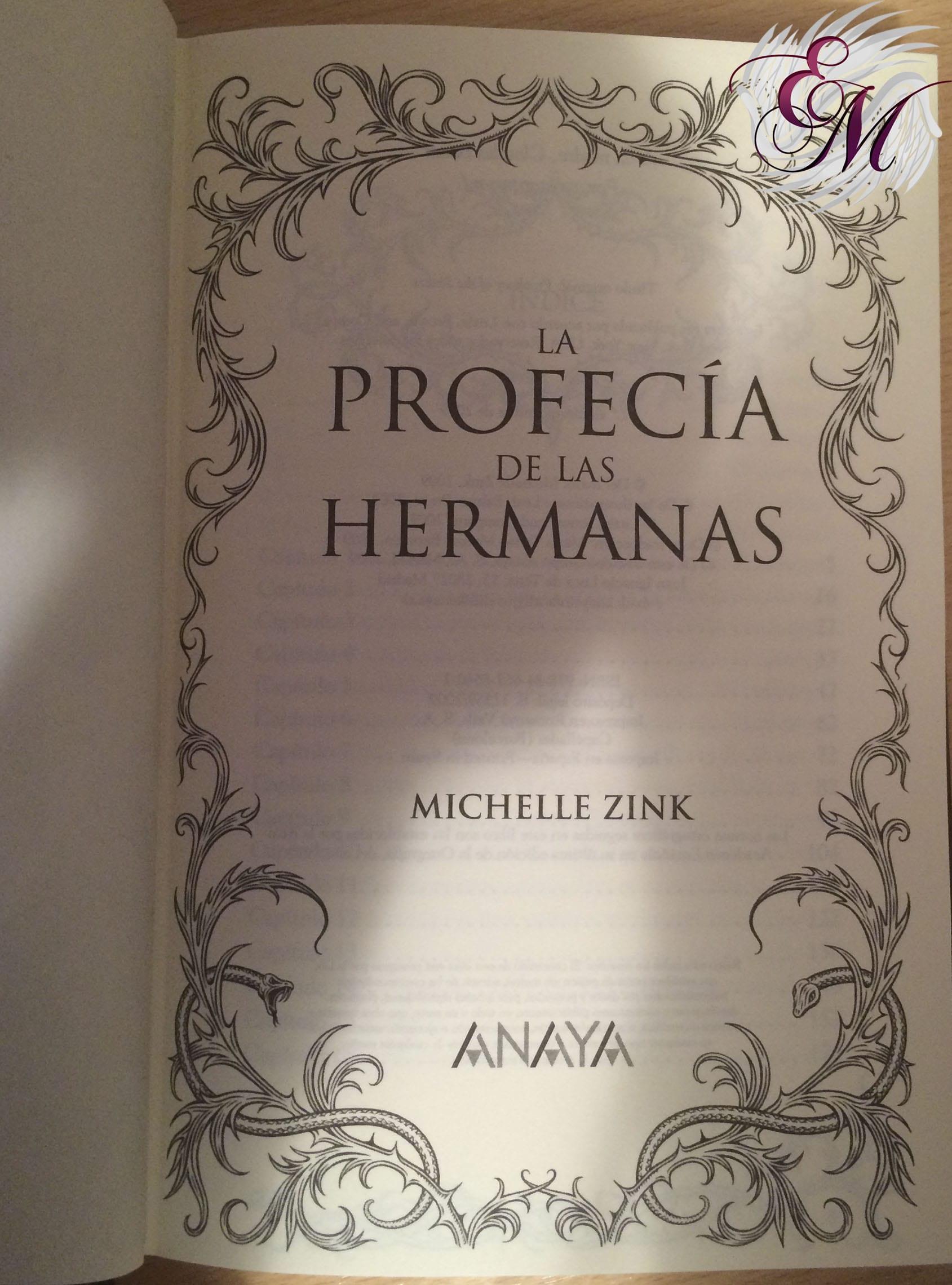 La profecía de las hermanas, de Michelle Zink - Reseña