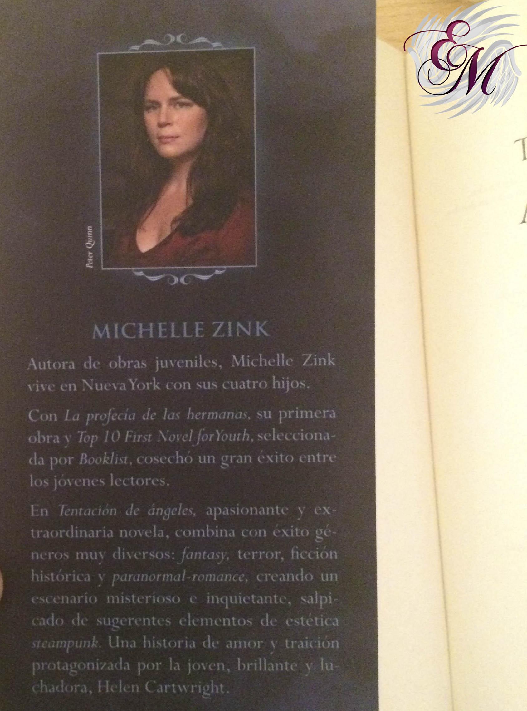 Tentación de ángeles, de Michelle Zink - Reseña