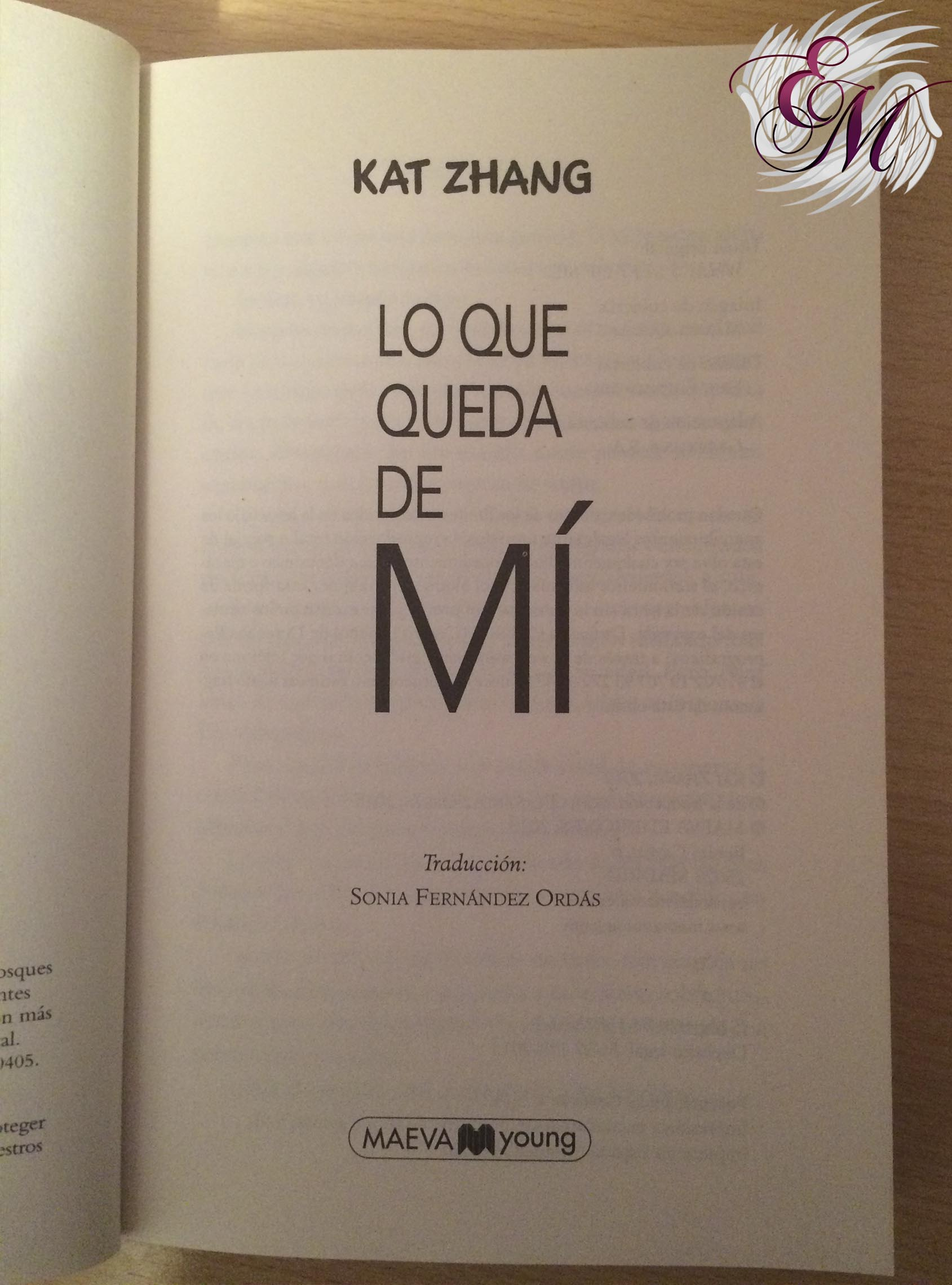 Lo que queda de mi, de Kat Zhang - Reseña