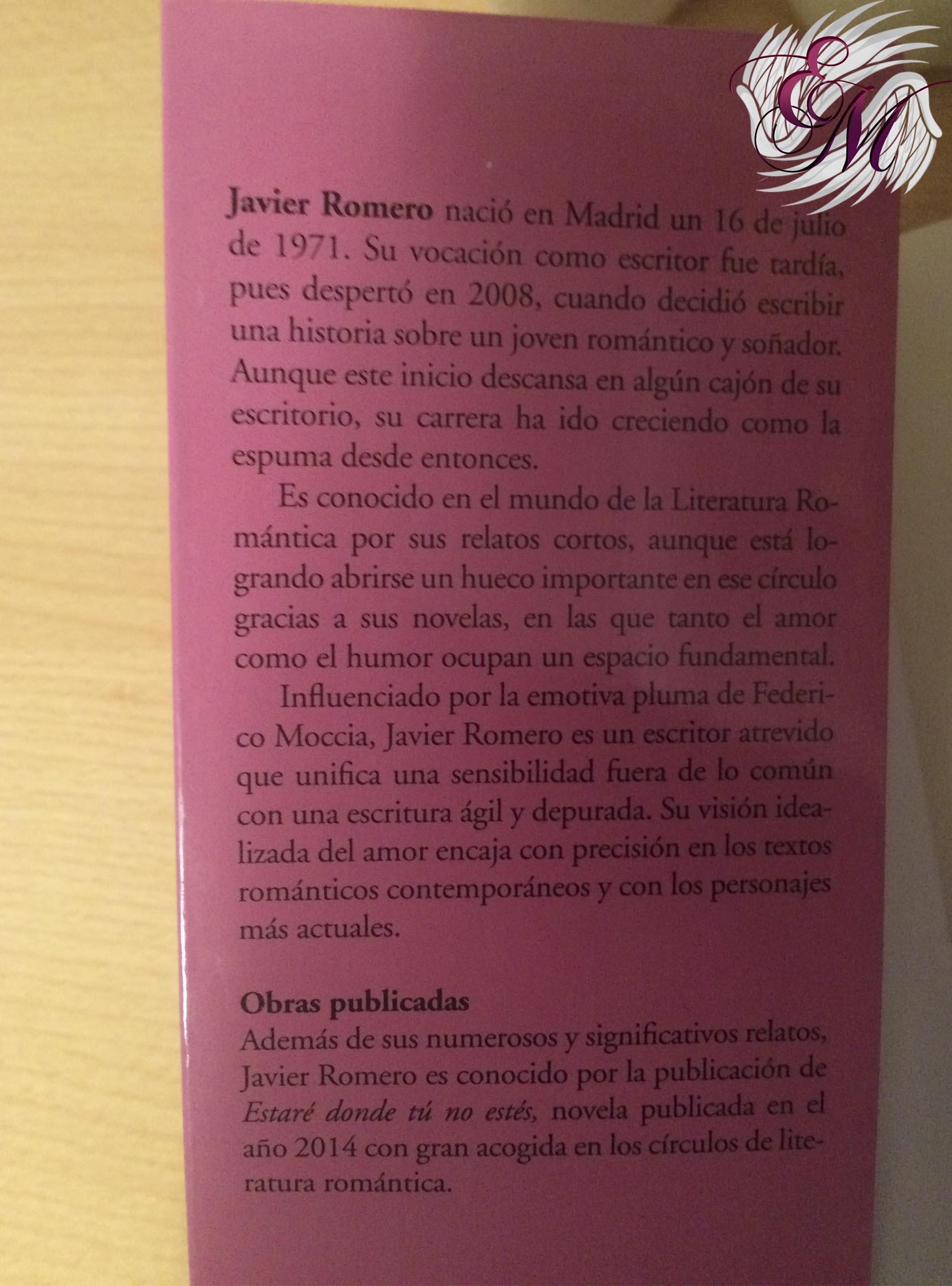 Ódiame y yo también te querré, de Javier Romero - Reseña