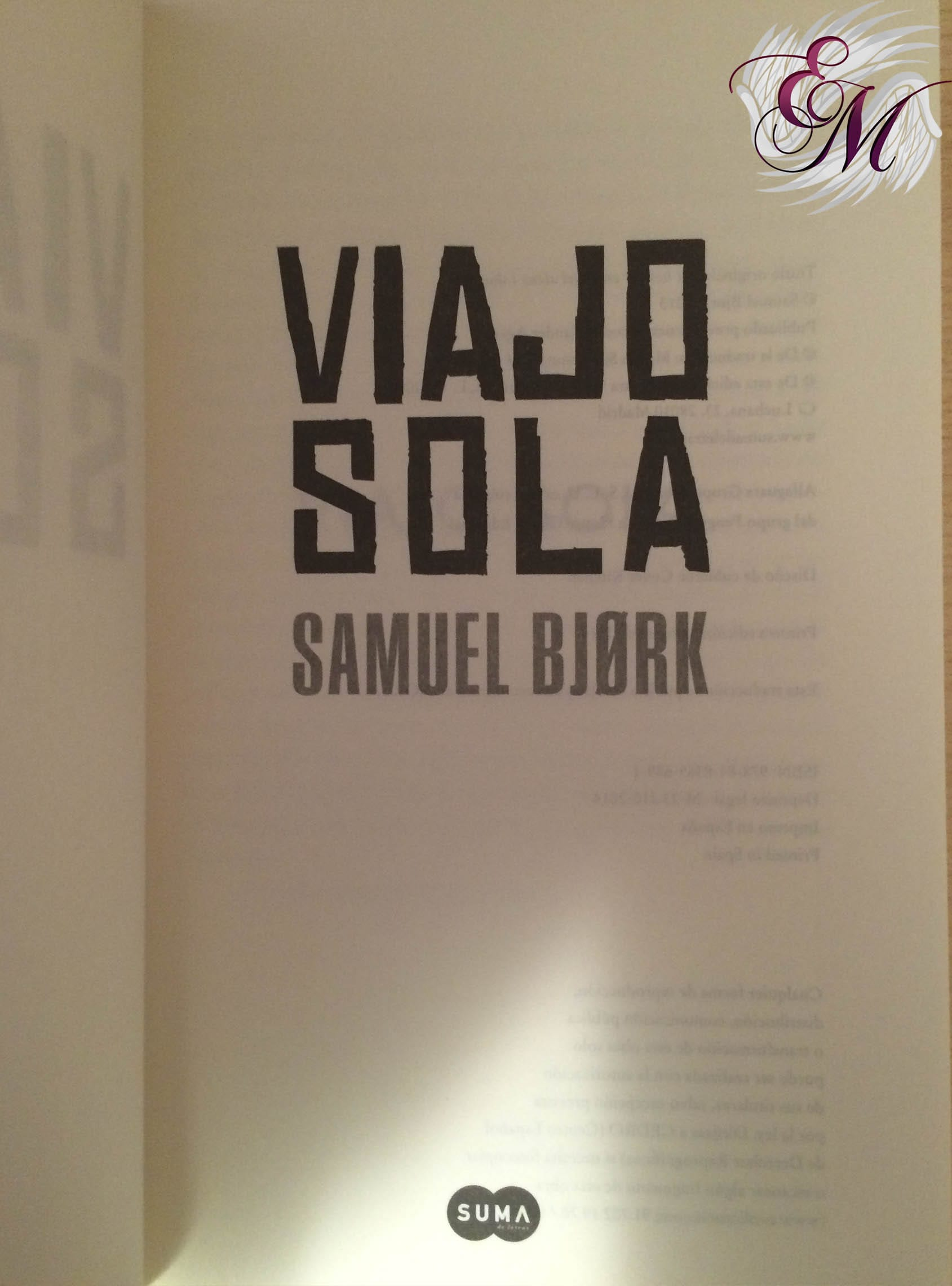 Viajo sola, de Samuel Bjørk - Reseña