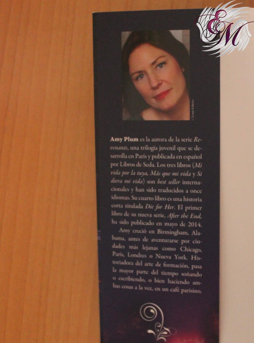 Revenants #2: Más que mi vida, de Amy Plum - Reseña