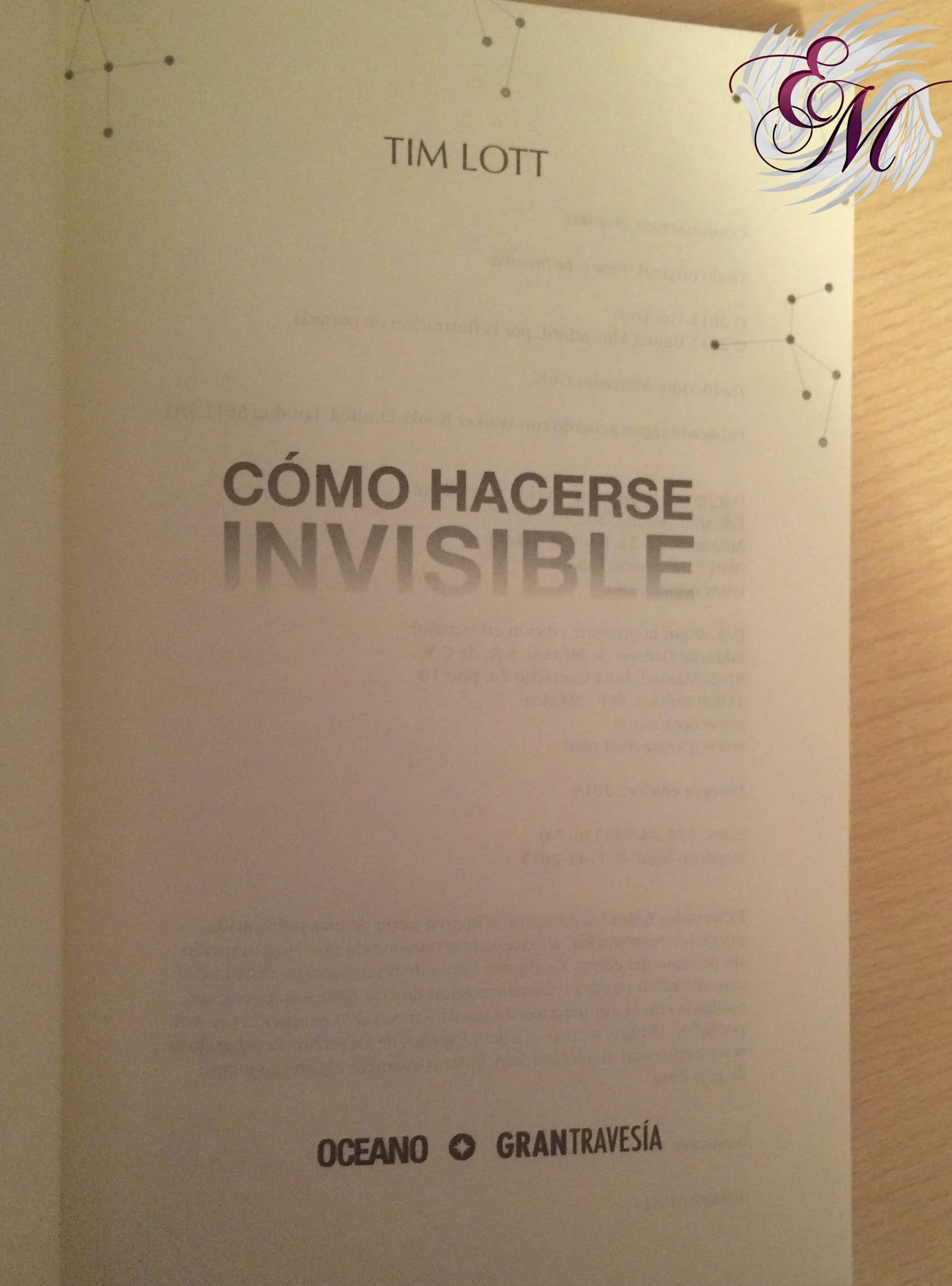 Cómo hacerse invisible, de Tim Lott - Reseña