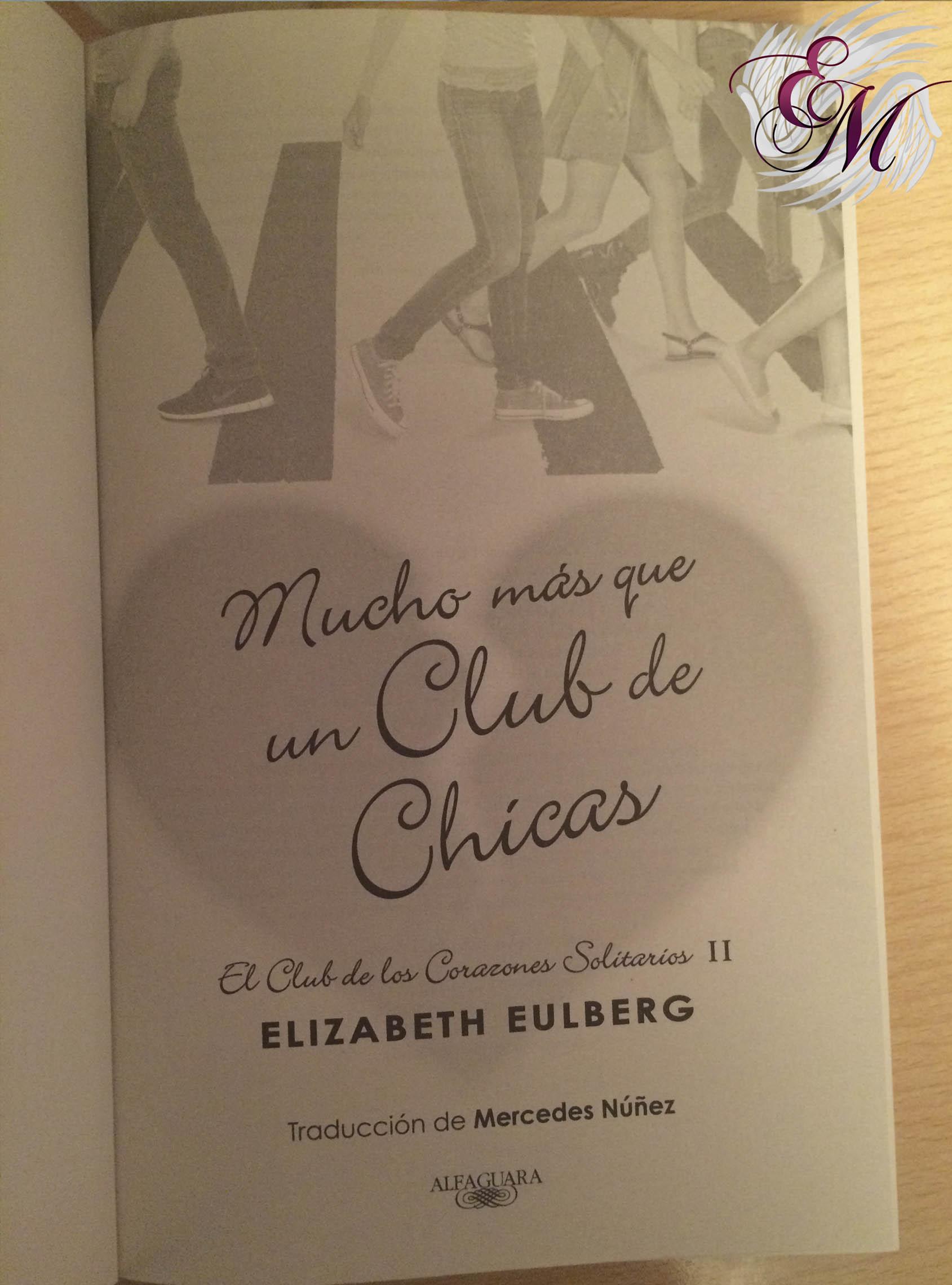 Mucho más que un club de chicas, de Elizabeth Eulberg - Reseña