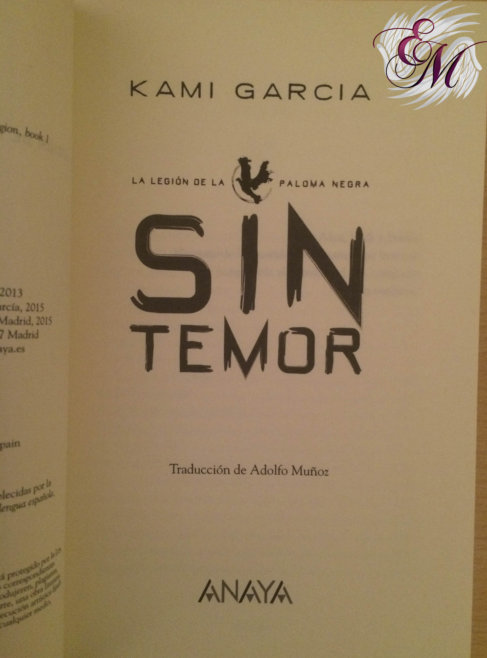 Sin temor, de Kami Garcia - Reseña
