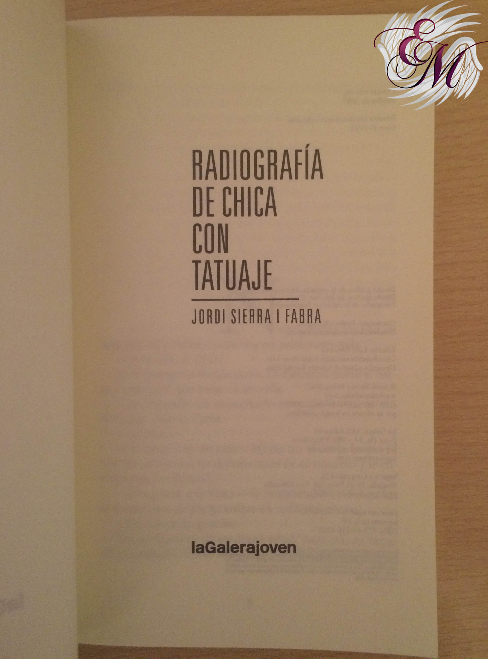 Radiografía de chica con tatuaje, de Jordi Sierra i Fabra - Reseña