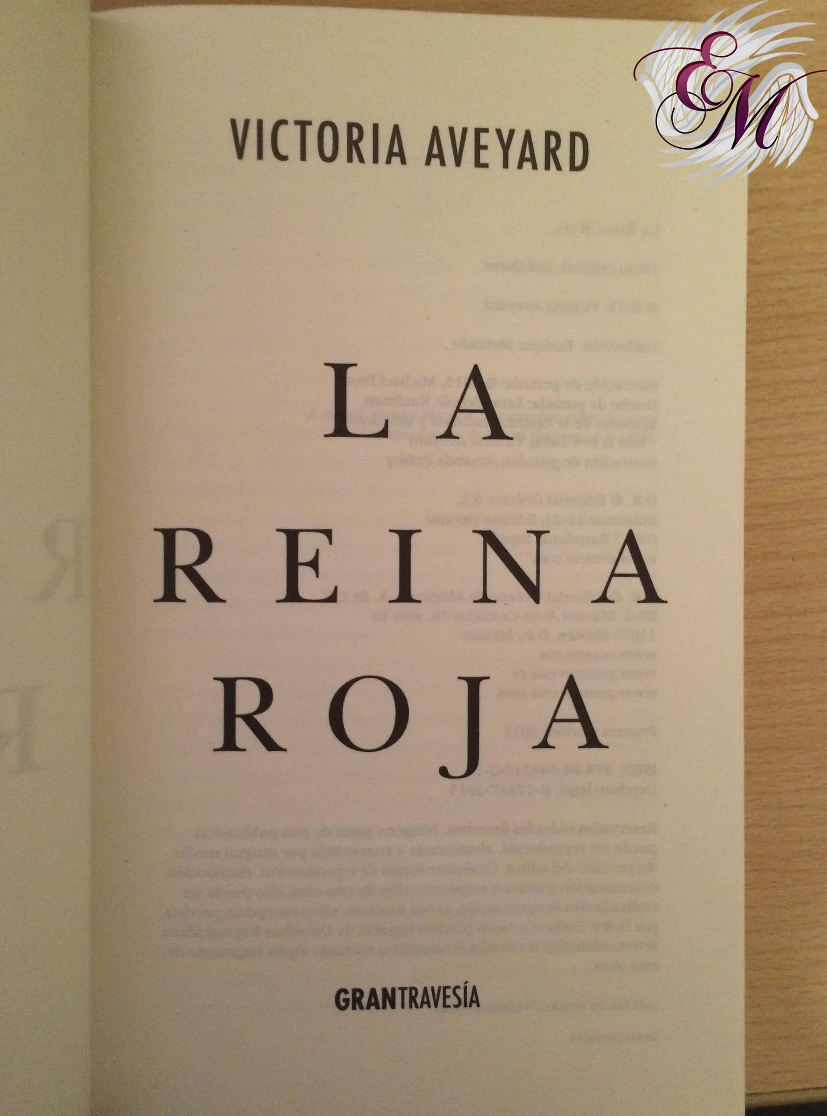 La Reina Roja de Victoria Aveyard - Reseña - página de la editorial