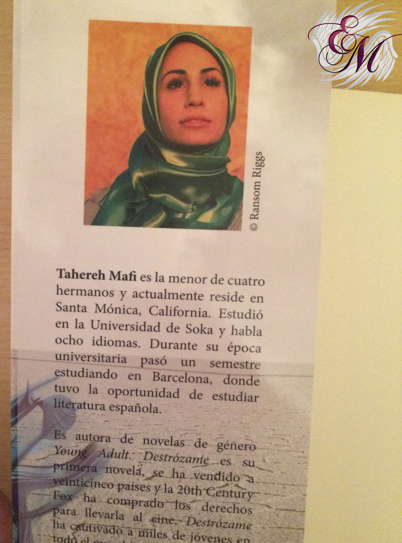 Destrózame, de Tahereh Mafi - Reseña