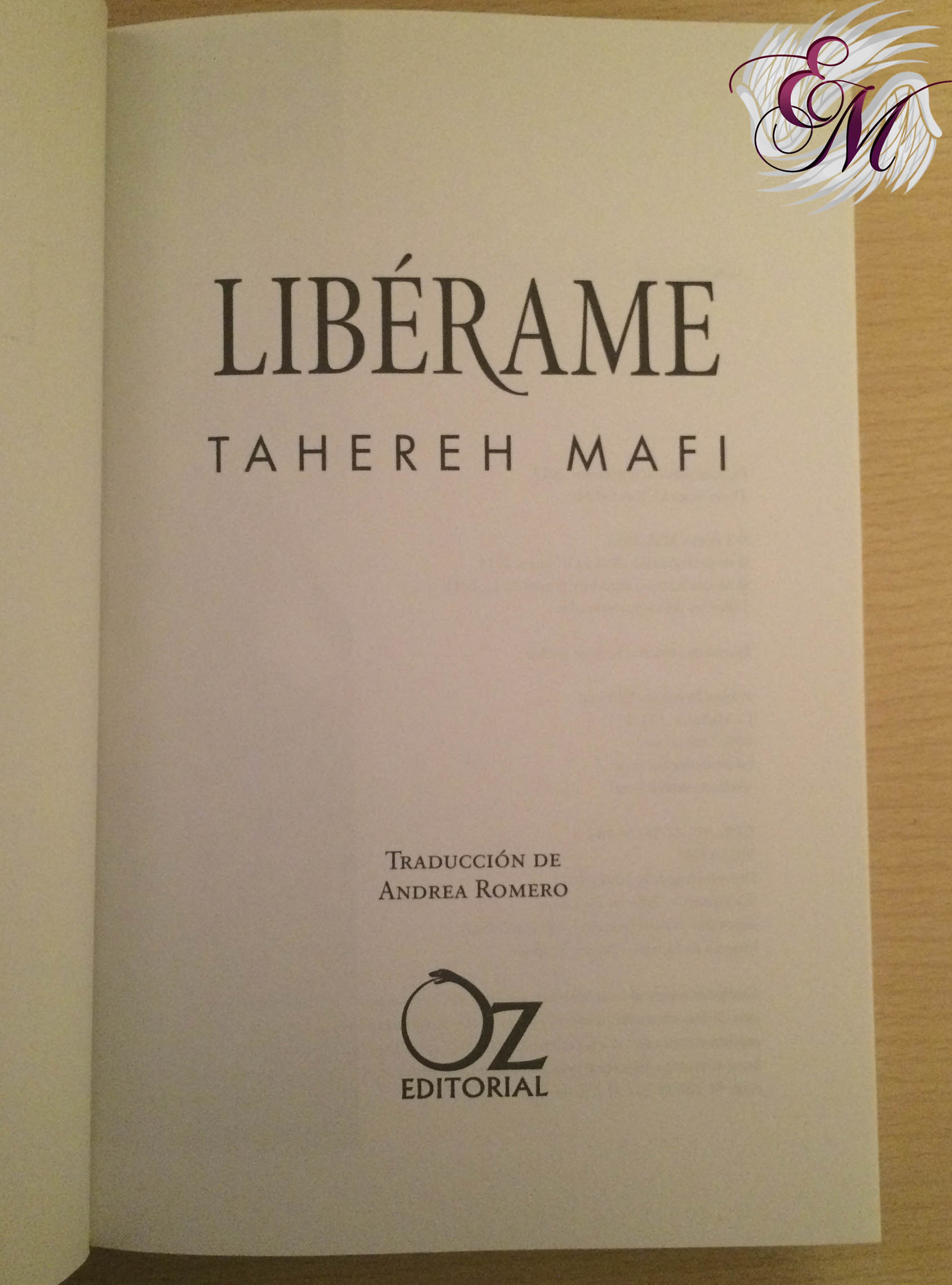 Libérame, de Tahereh Mafi - Reseña