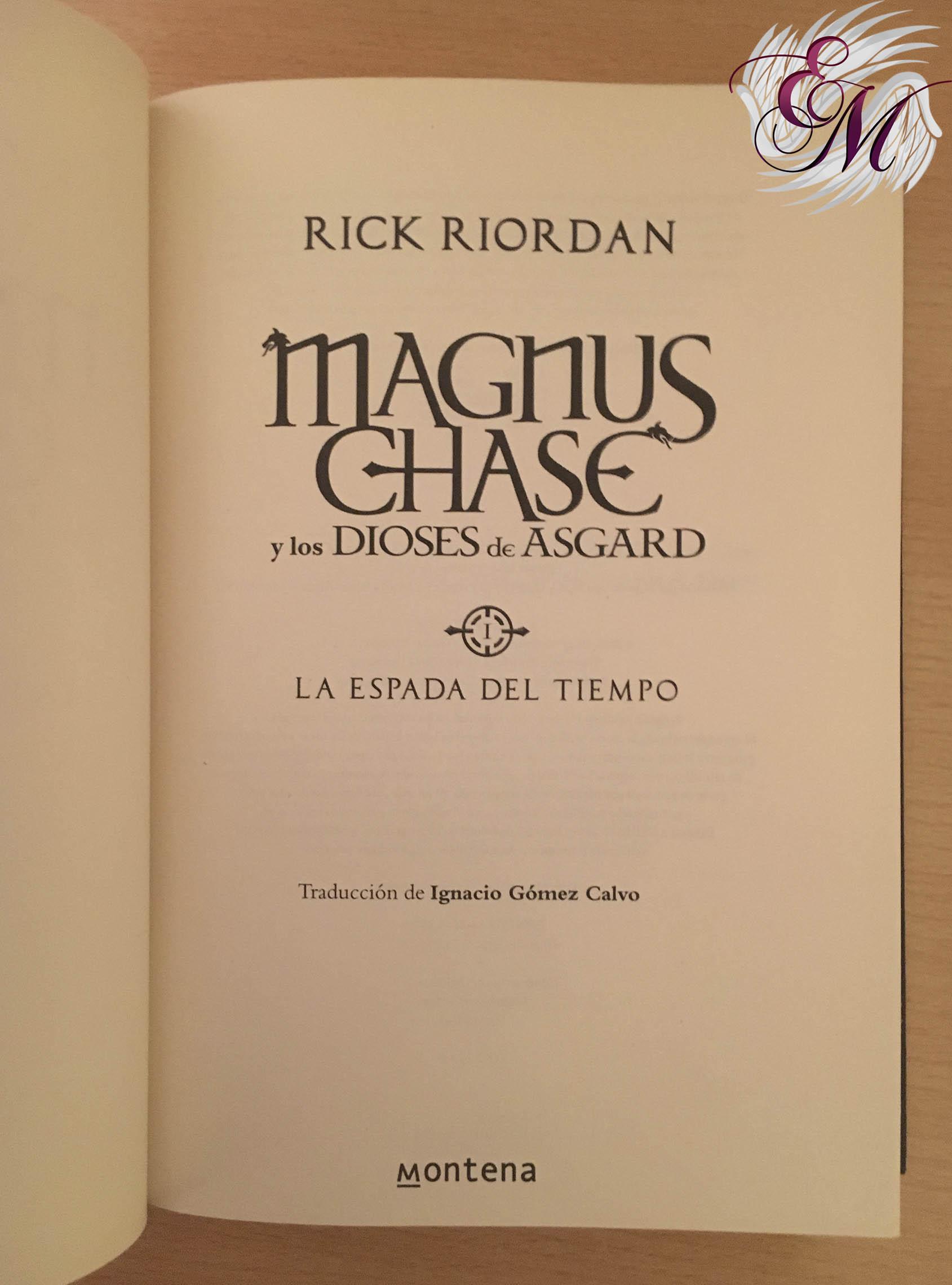 La espada del tiempo, de Rick Riordan - Reseña