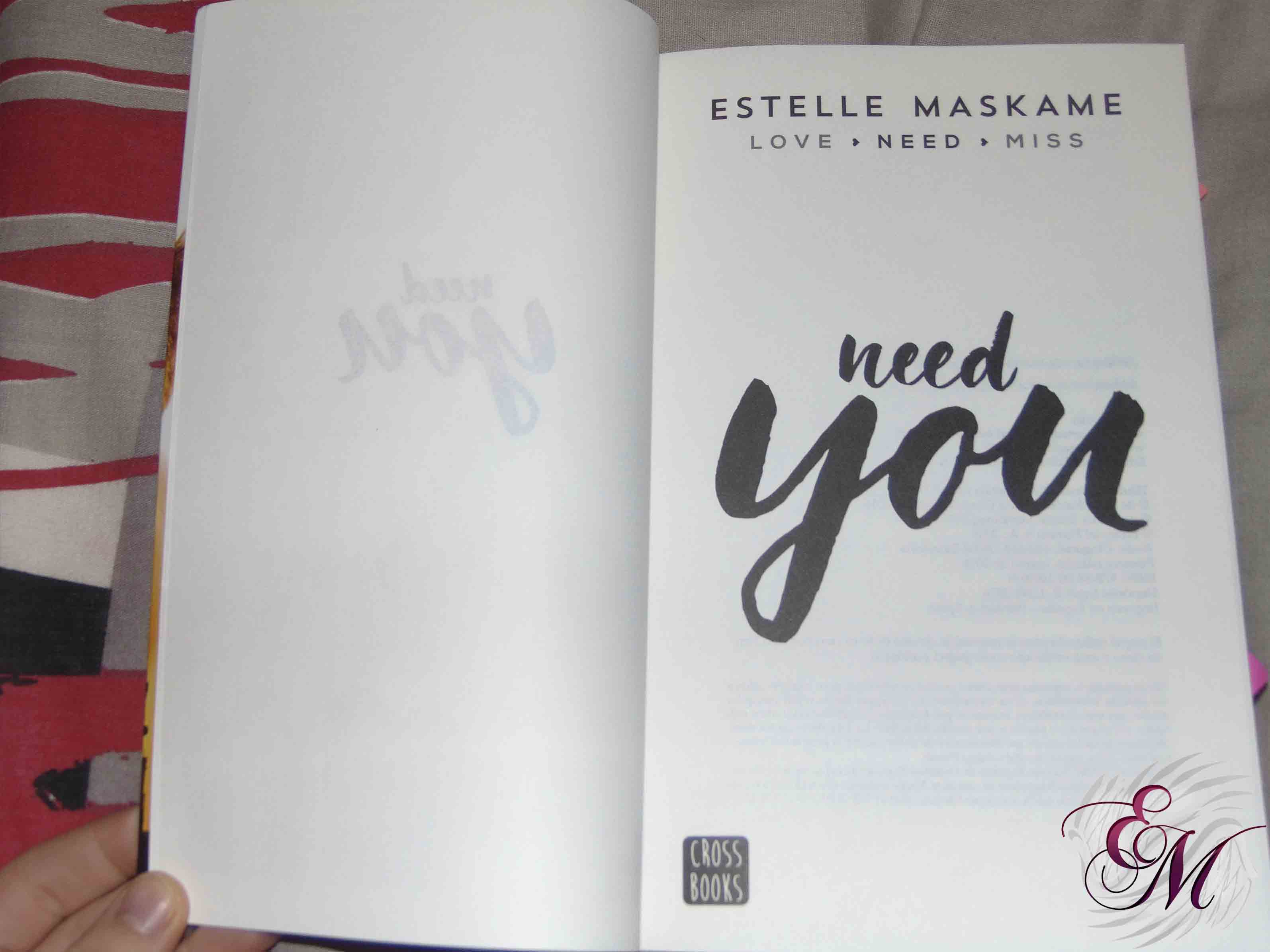 Need you, de Estelle Maskame - Reseña