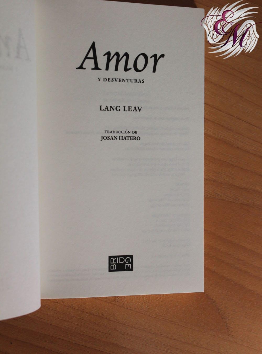 Amor y desventuras, de Lang Leav - Reseña