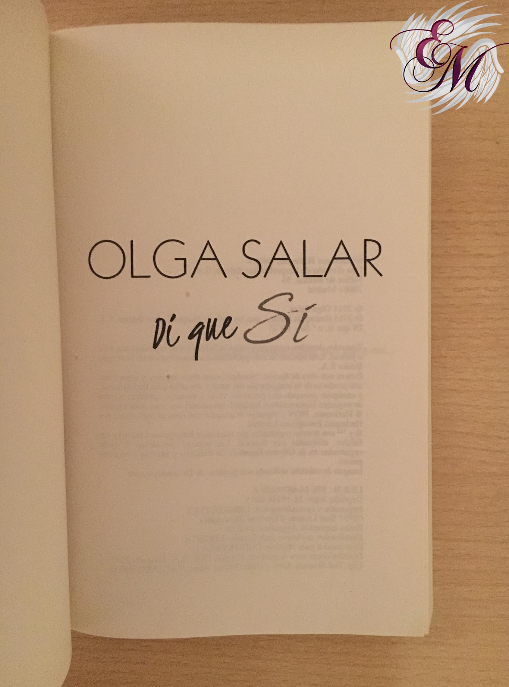 Di que sí, de Olga Salar - Reseña