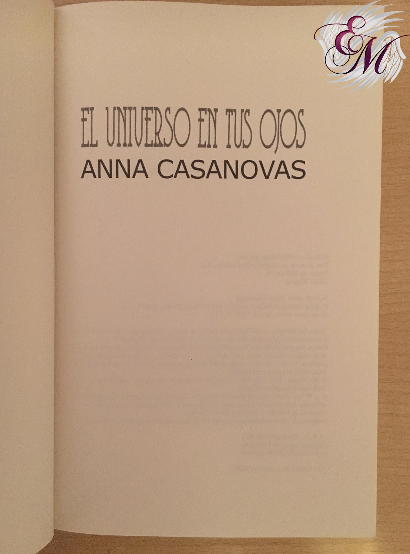 El universo en tus ojos, de Anna Casanovas - Reseña