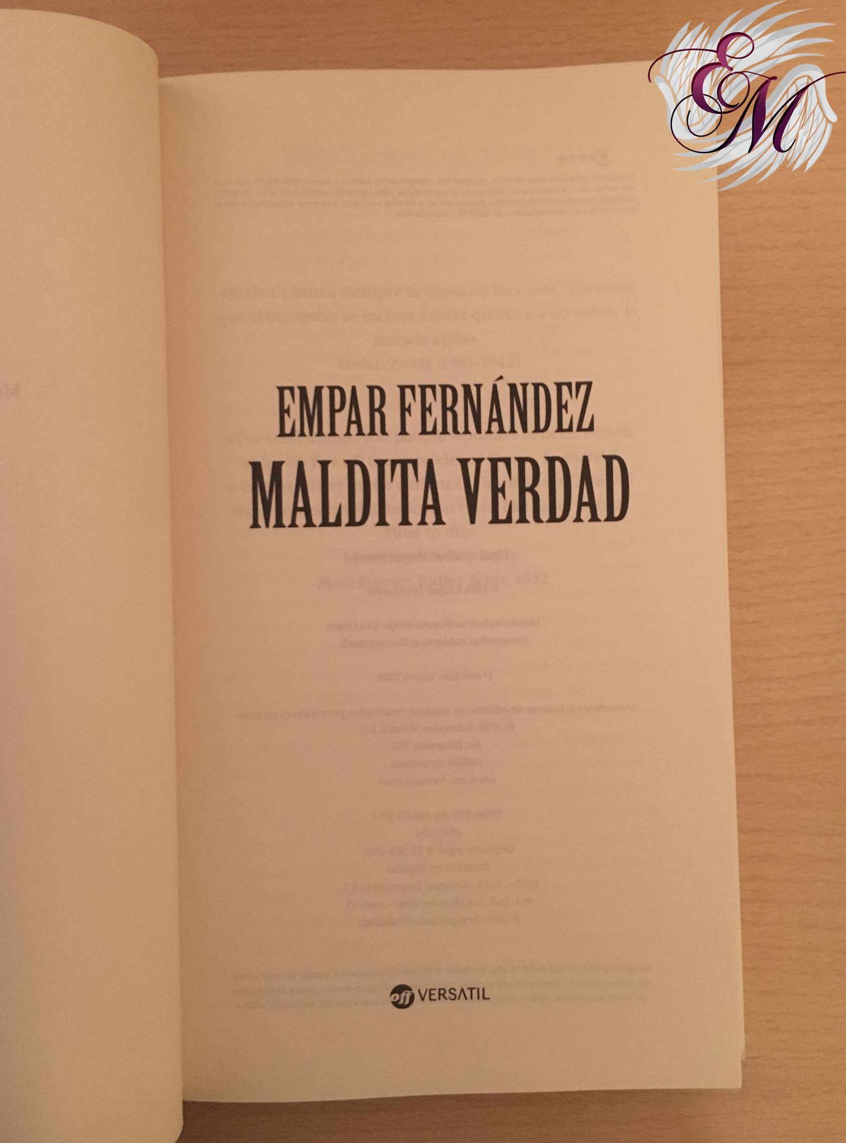 Maldita verdad, de Empar Fernández - Reseña