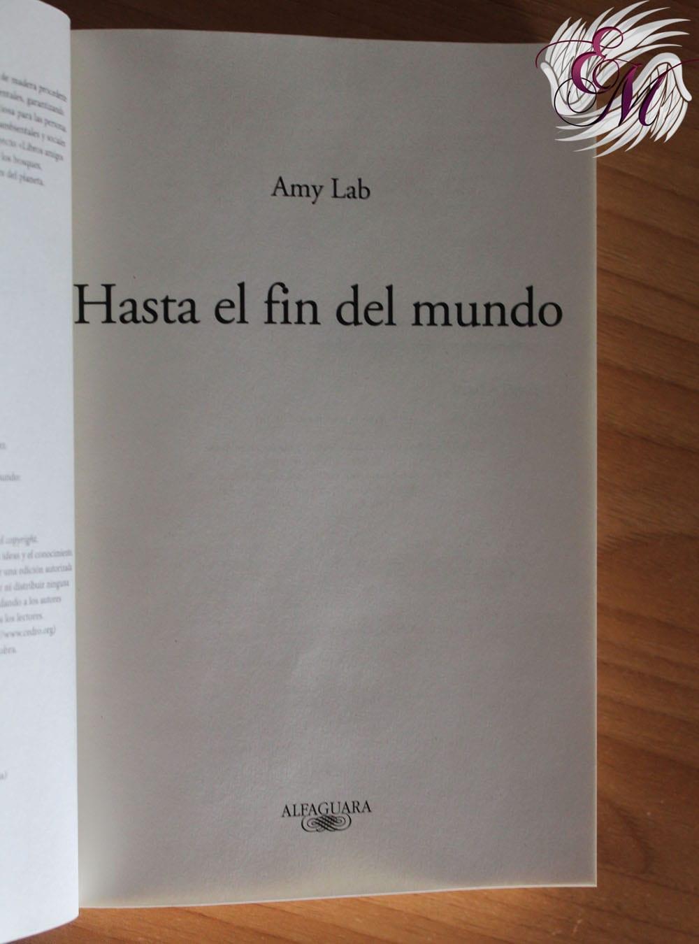 Hasta el fin del mundo, de Amy Lab – Reseña