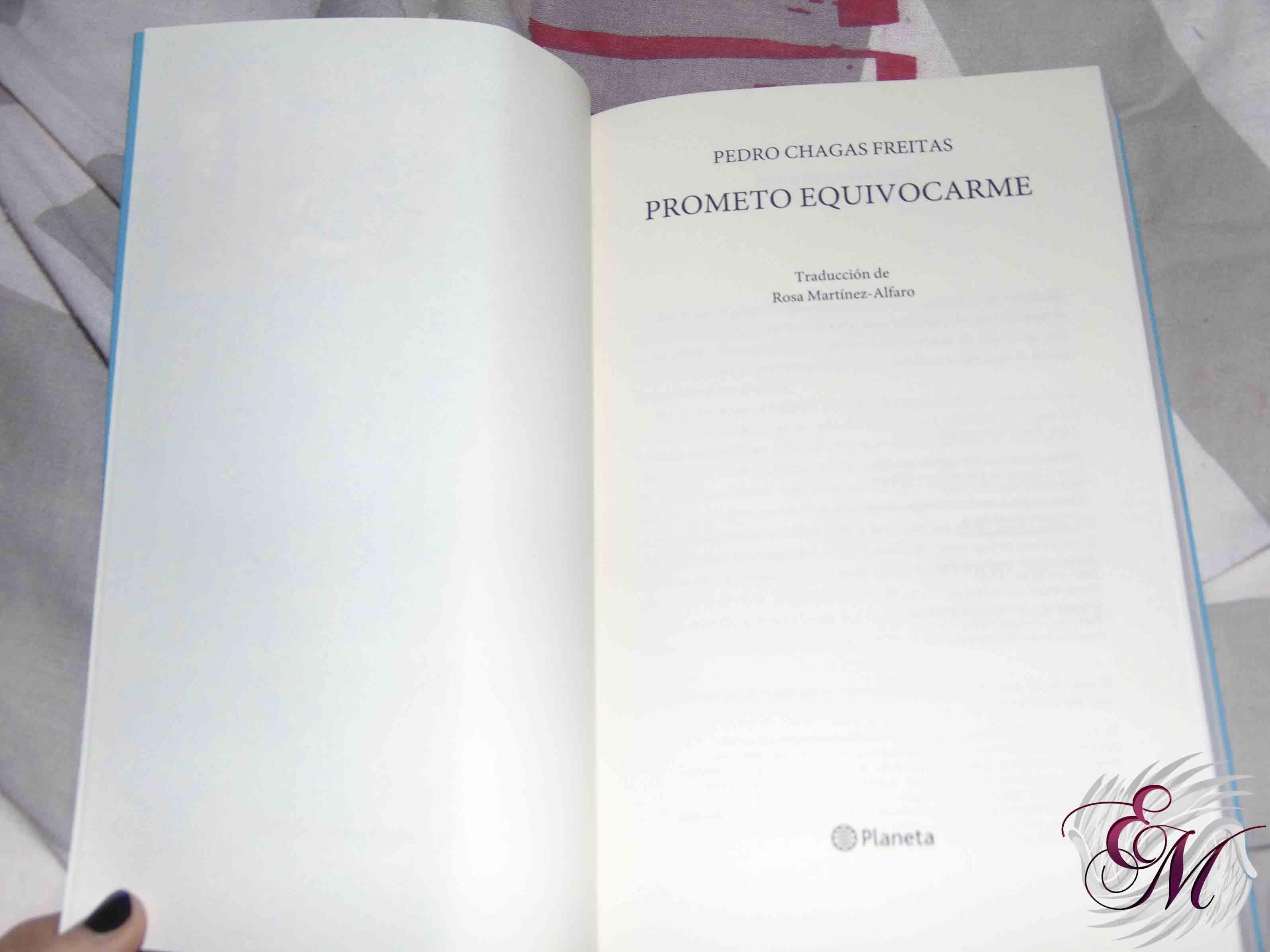 Prometo equivocarme, de Pedro Chagas Freitas - Reseña