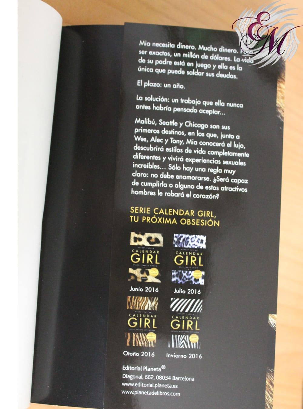 Calendar Girl 1 de Audrey Carlan - Reseña