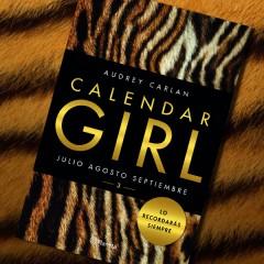 'Calendar Girl 3', de Audrey Carlan. A la venta el 8 de septiembre