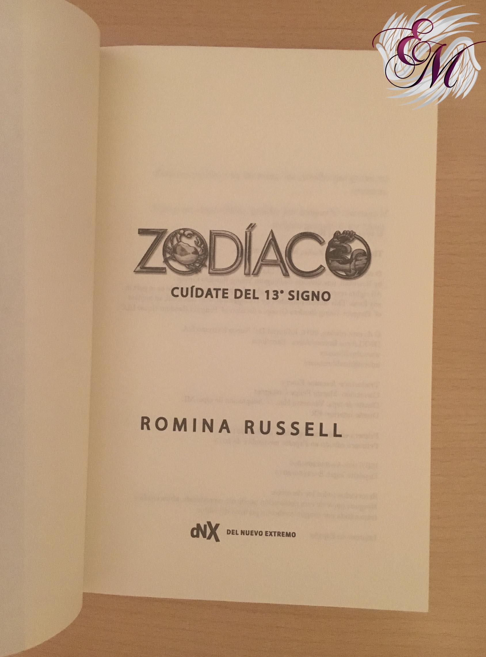Zodíaco de Romina Russell - Reseña