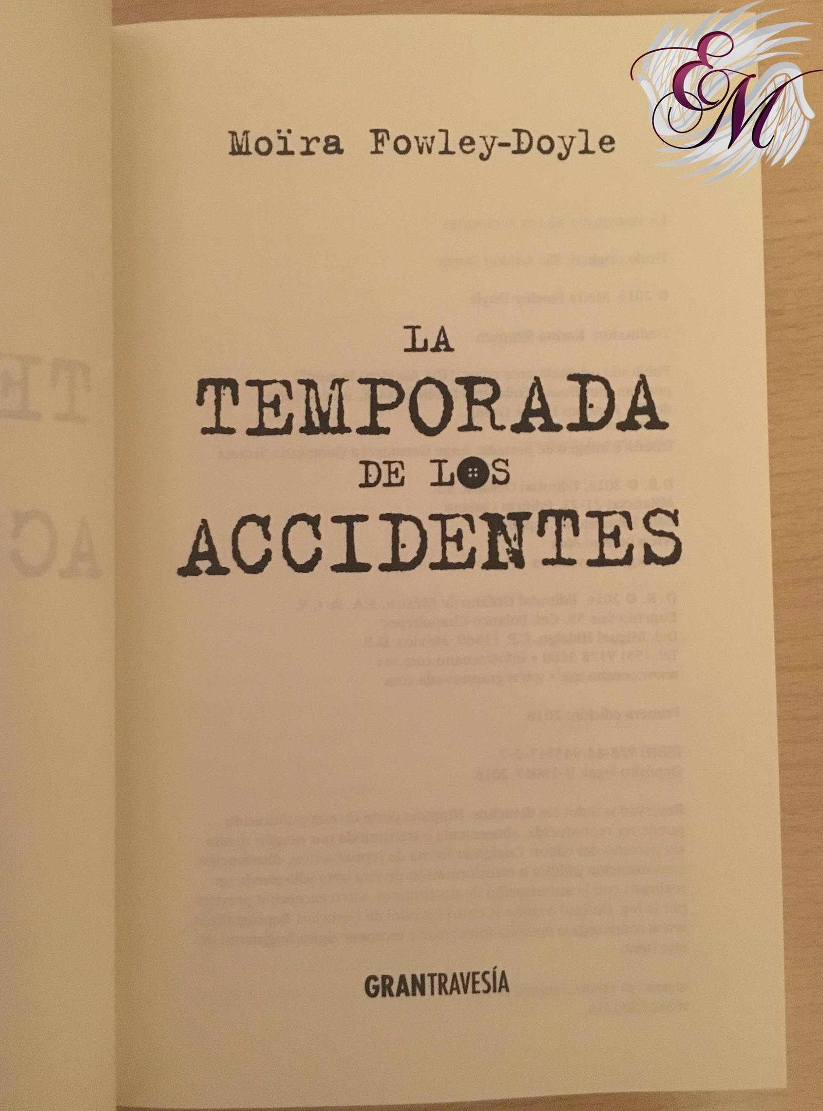 La temporada de los accidentes, de Moïra Fowley-Doyle - Reseña