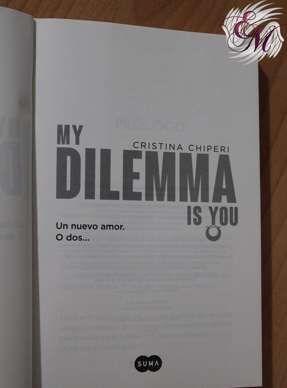 My Dilemma Is You 1: Un Nuevo Amor. O Dos..., de Cristina Chiperi - Reseña