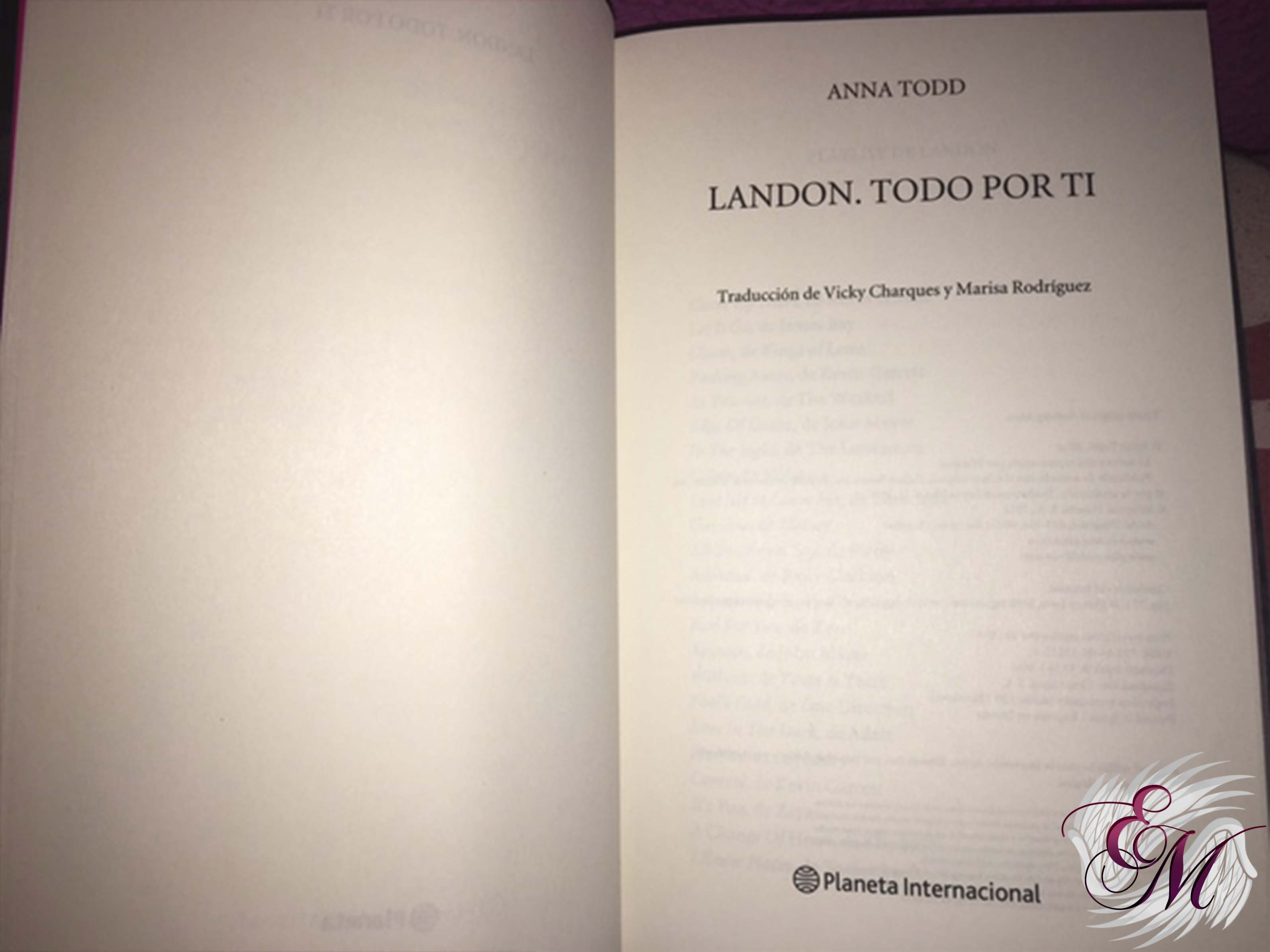 Landon todo por tí, de Anna Todd - Reseña