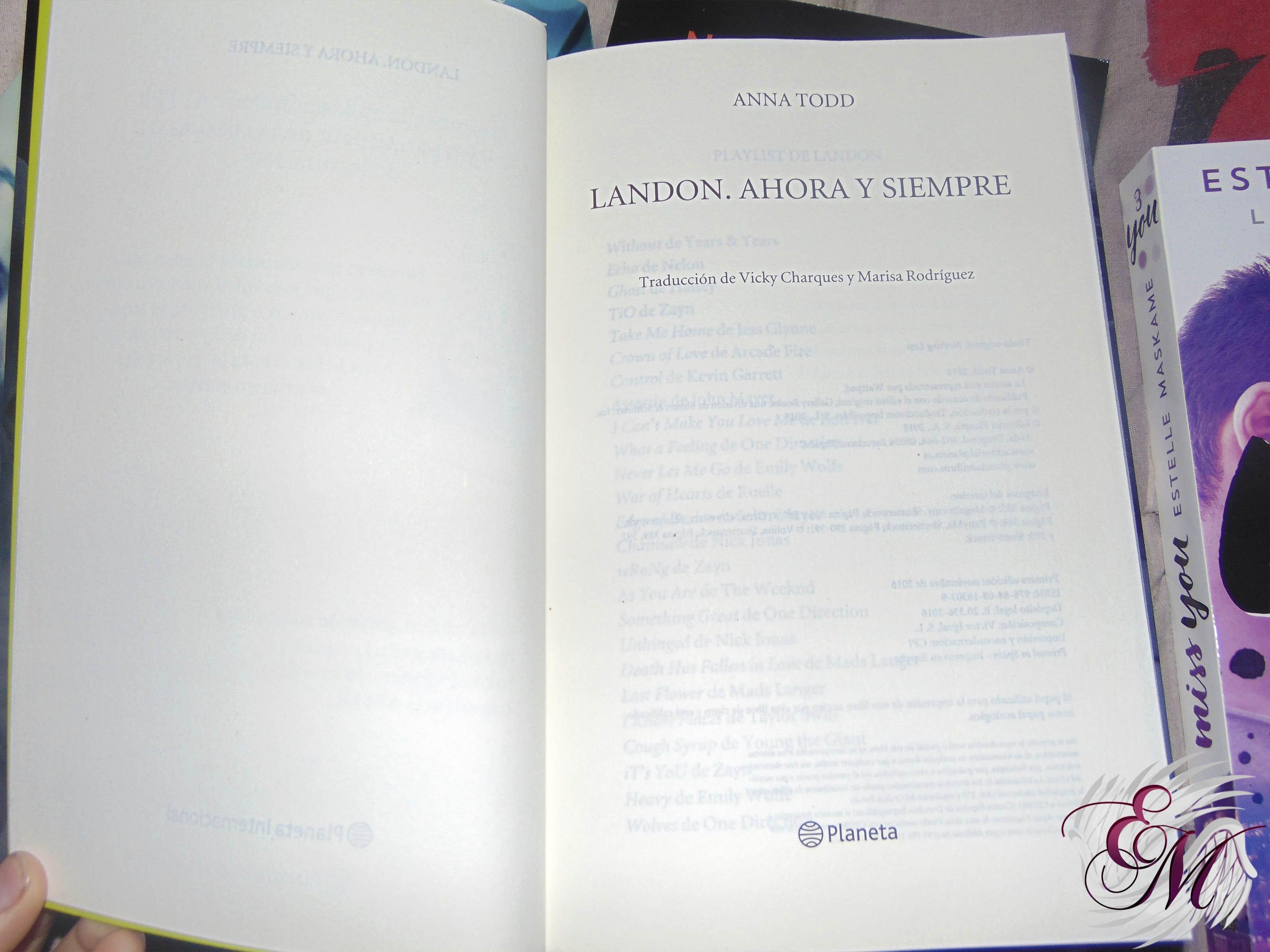 Landon ahora y siempre, de Anna Todd - Reseña