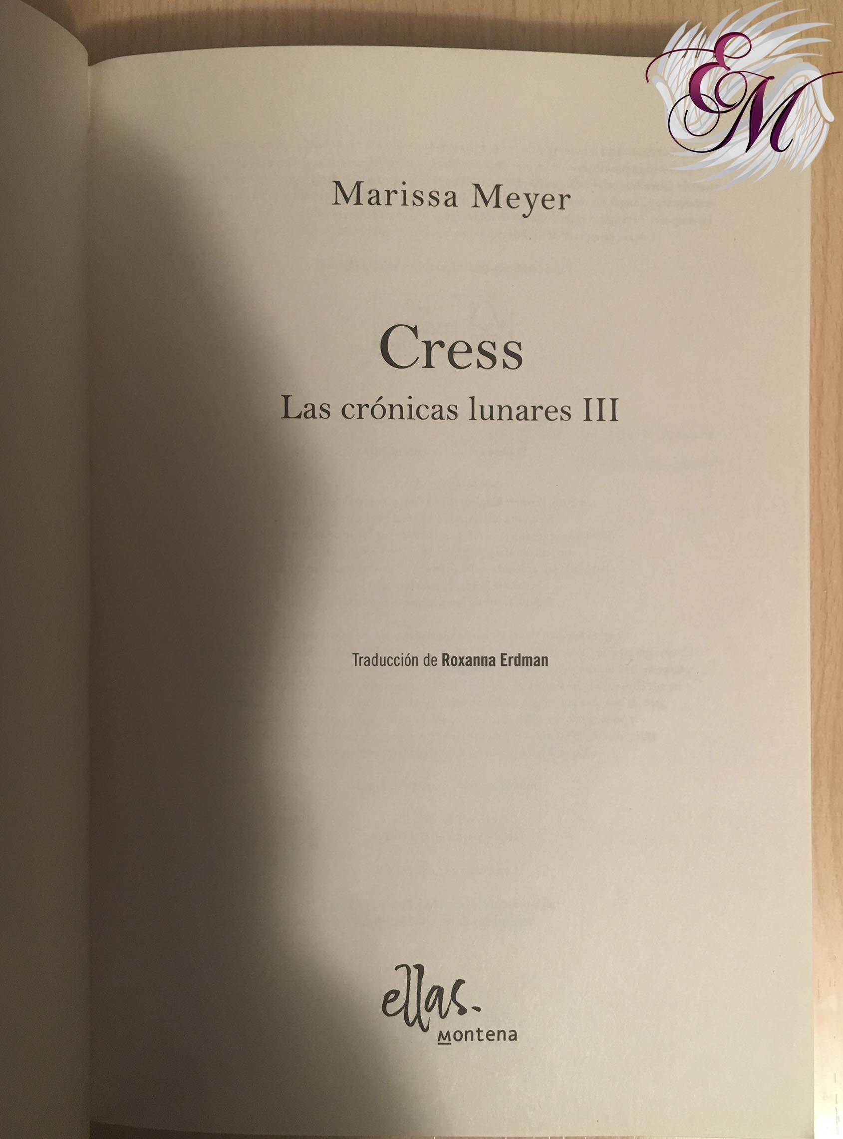 Cress, de Marissa Meyer - Reseña