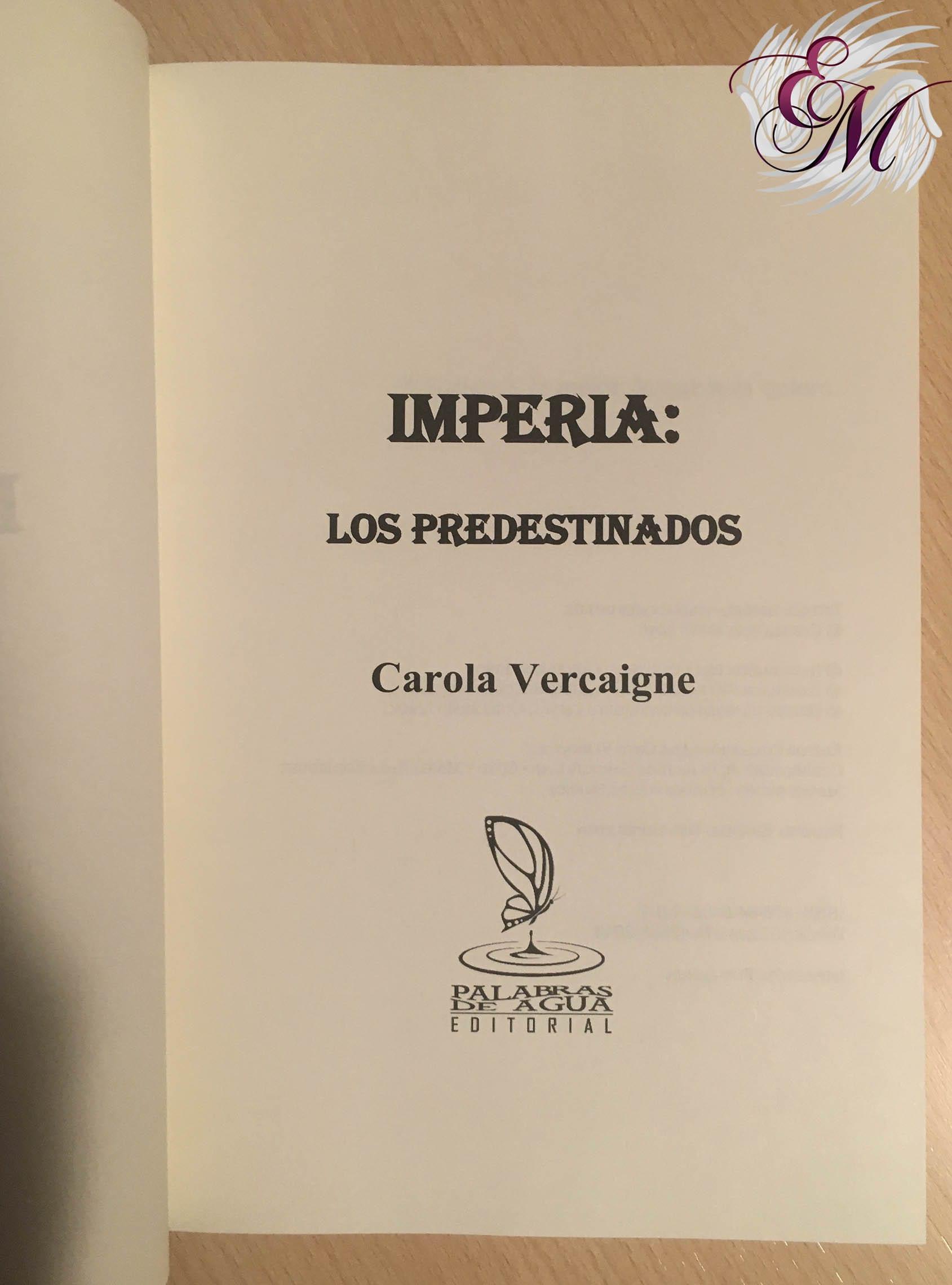 Imperia: Los predestinados, de Carola Vercaigne - Reseña