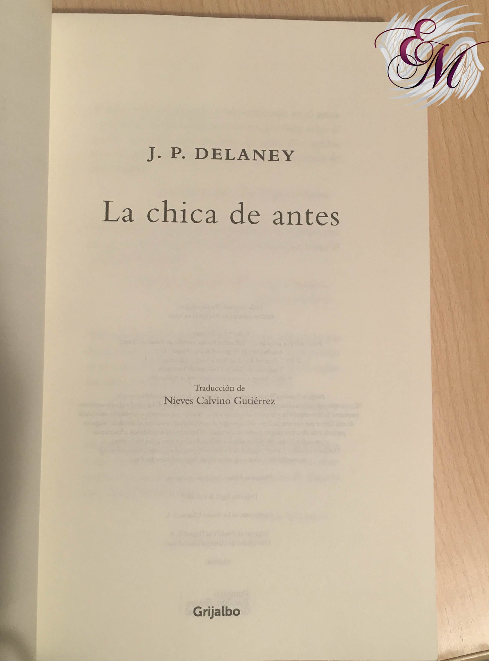 La chica de antes, de J.P. Delaney - Reseña