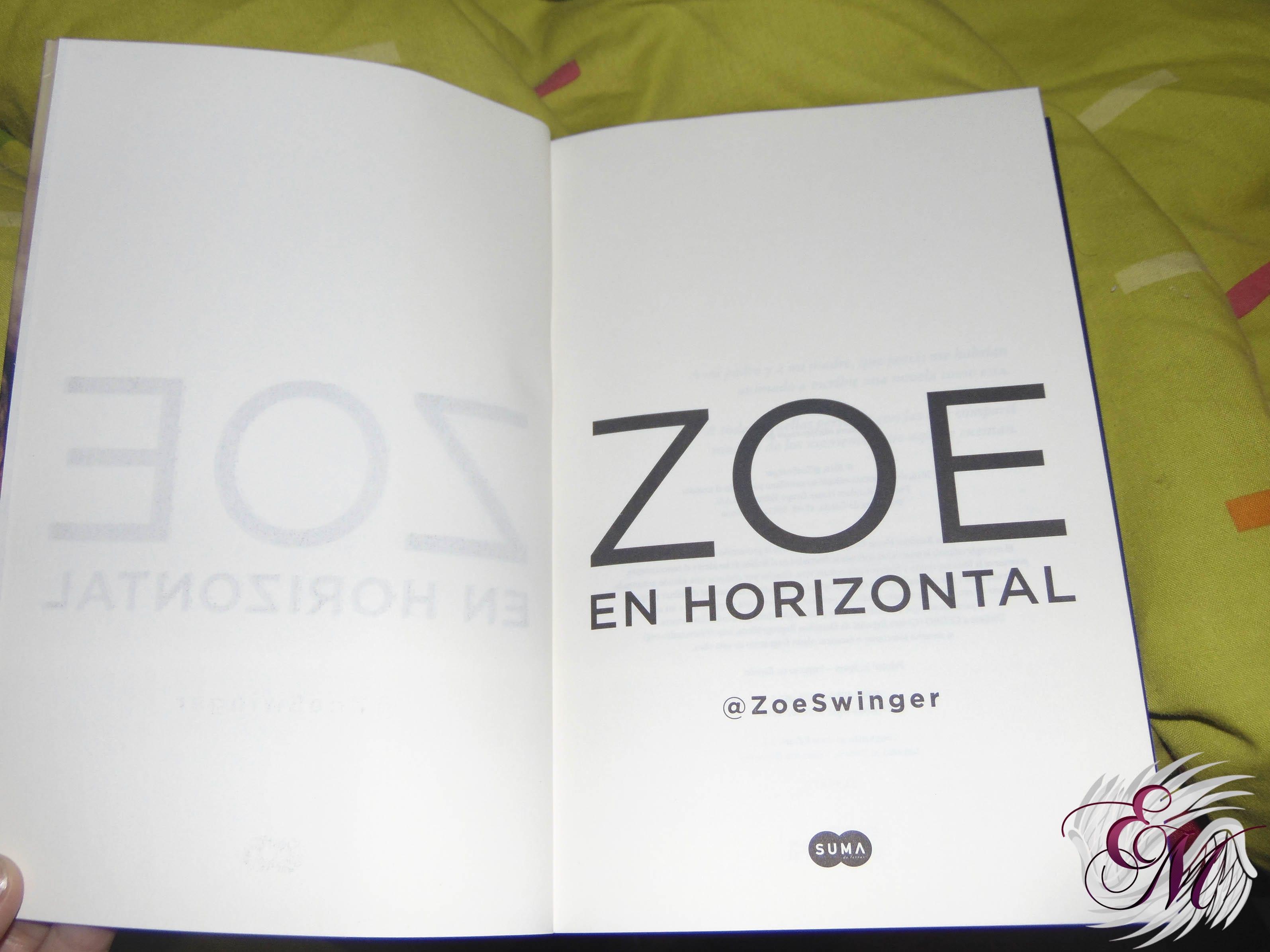 Zoe en horizontal, de ZoeSwinger - Reseña