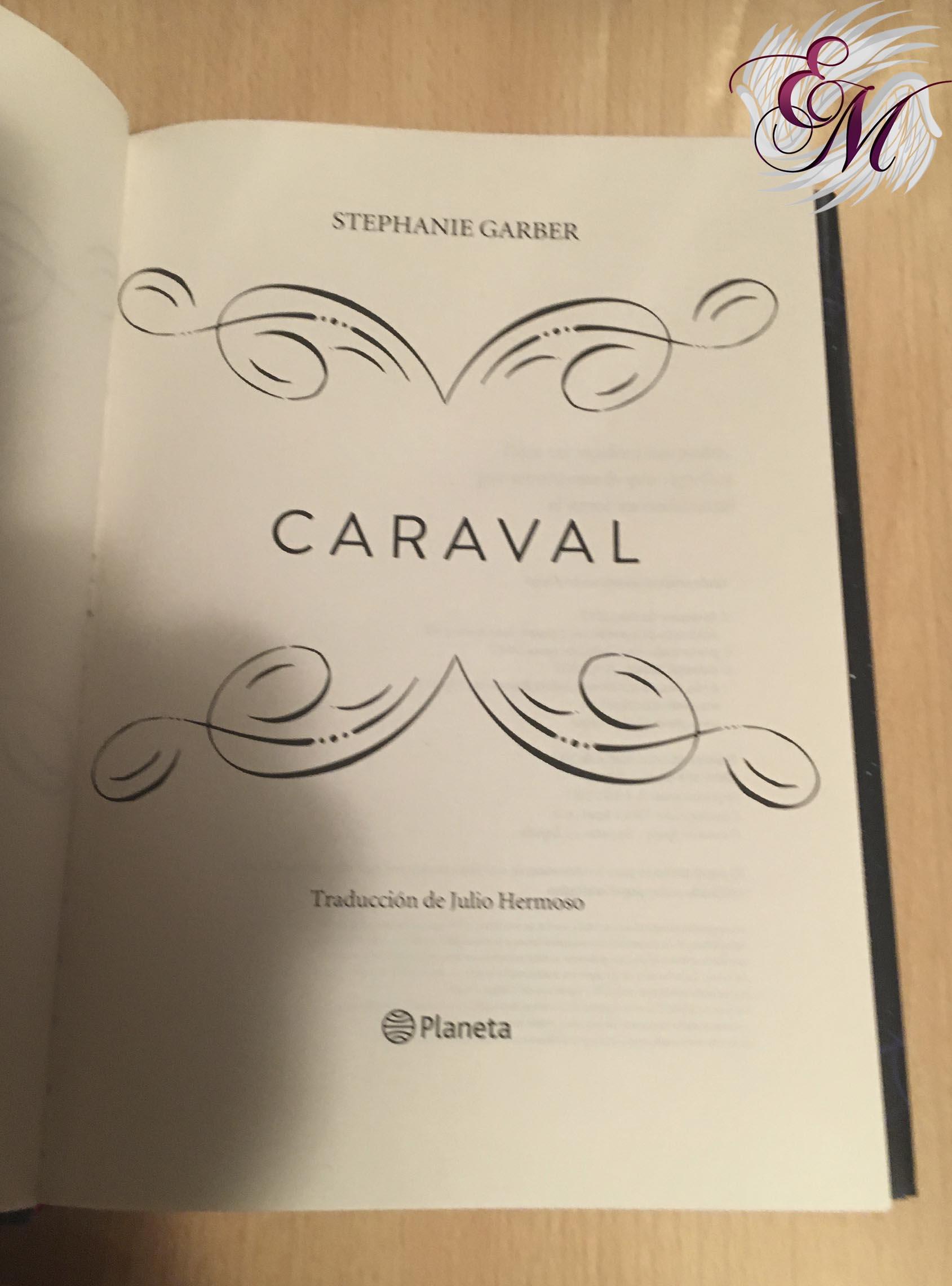 Caraval, de Stephanie Garber - Reseña