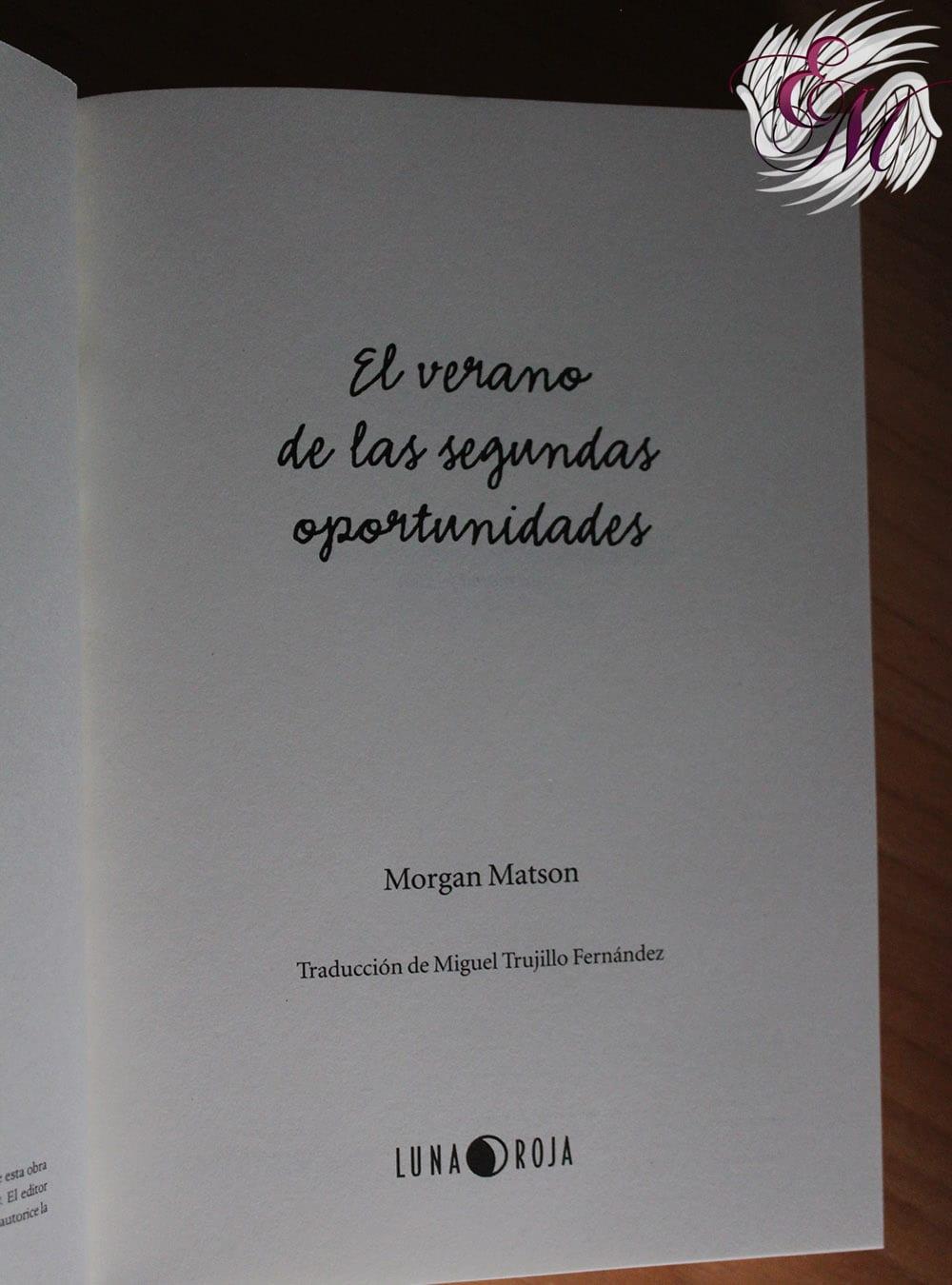 El verano de las segundas oportunidades, de Morgan Matson - Reseña