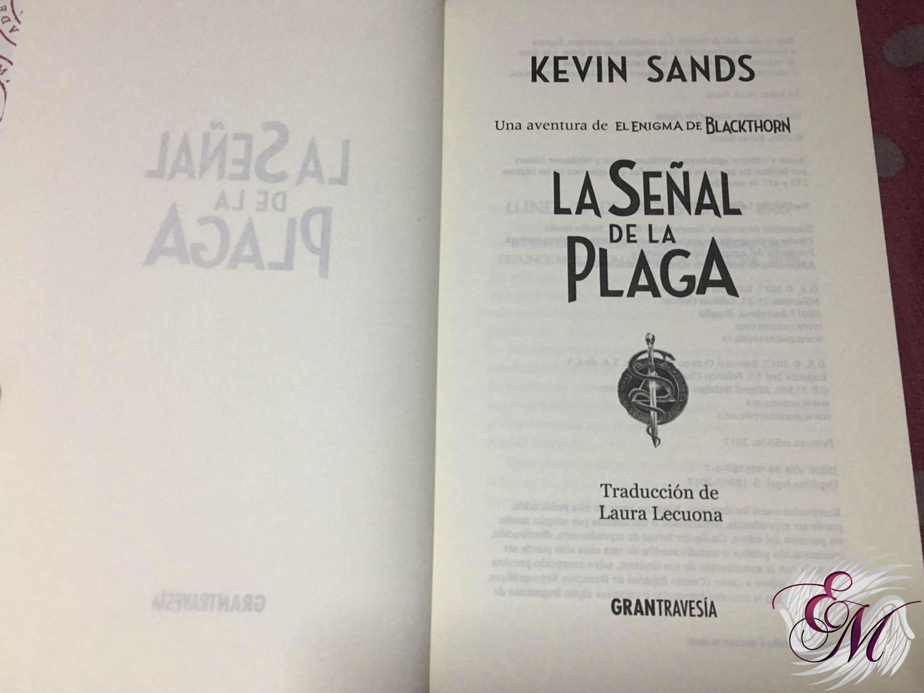 La señal de la plaga, de Kevin Sands - Reseña