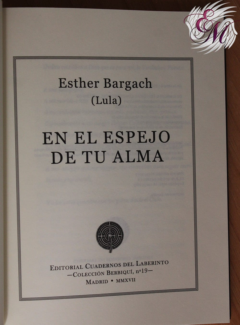 En el espejo de tu alma, de Esther Bargach - Reseña