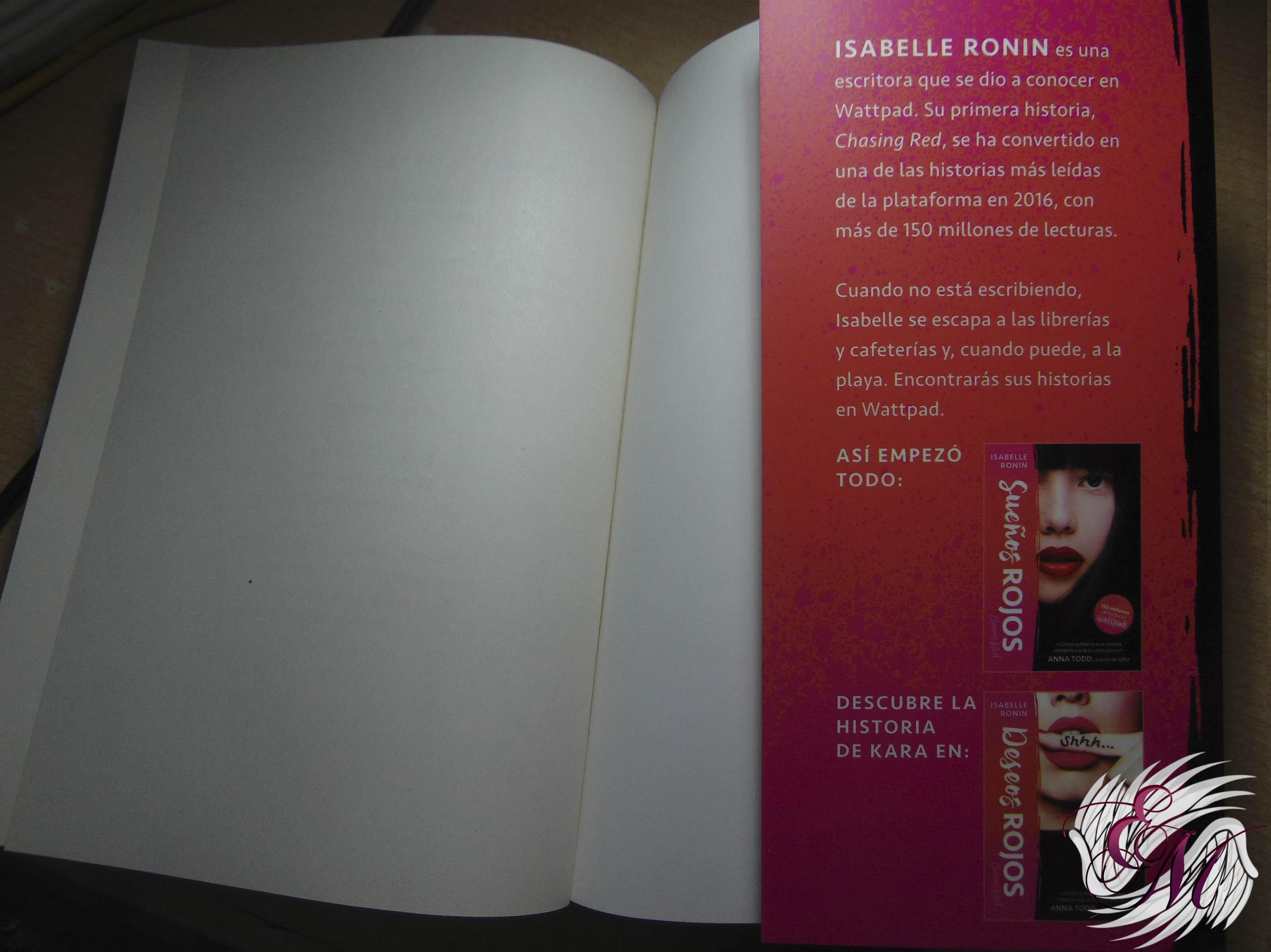 Besos rojos, de Isabelle Ronin - Reseña