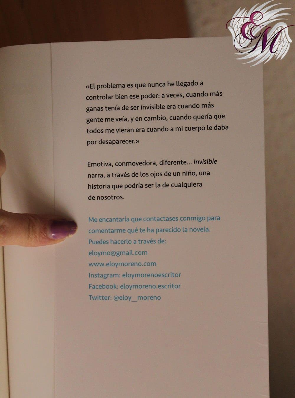 Invisible, de Eloy Moreno - Reseña