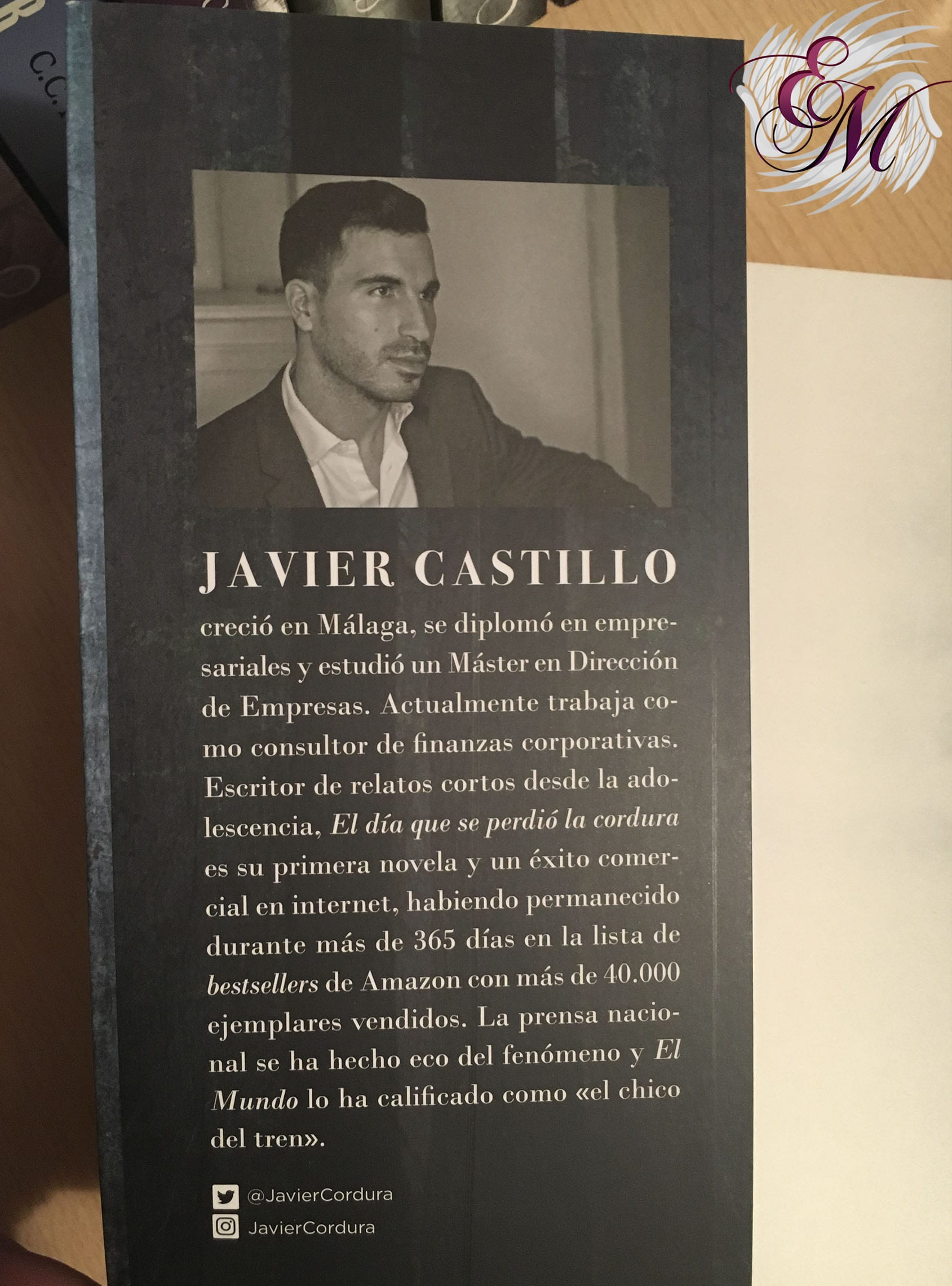 El día que se perdió la cordura, de Javier Castillo - Reseña