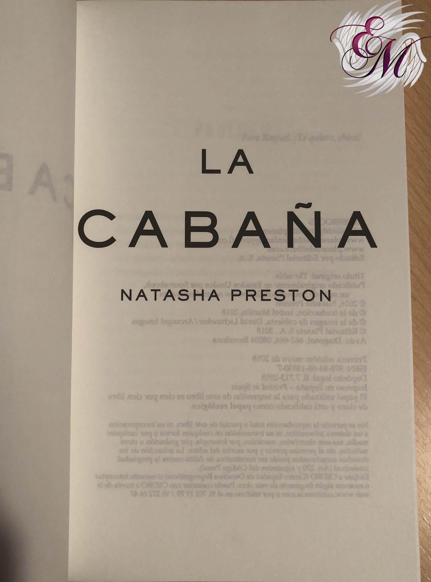 La cabaña, de Natasha Preston - Reseña
