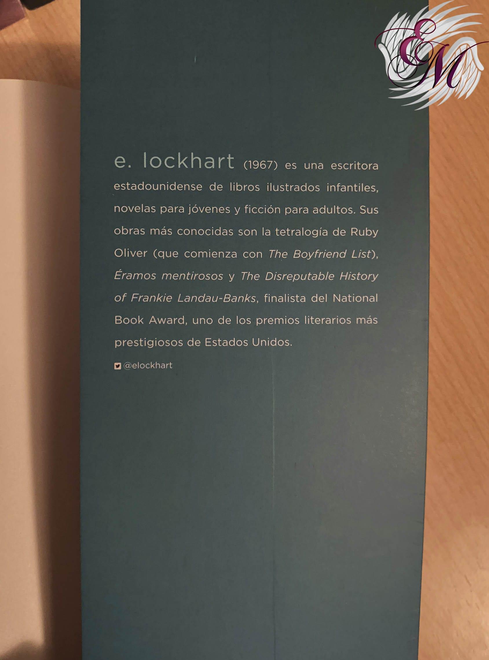 Todo es mentira, de E. Lockhart - Reseña