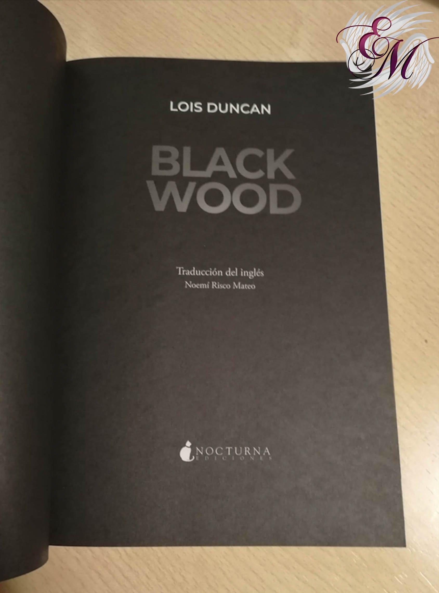 Blackwood, de Lois Duncan - Reseña
