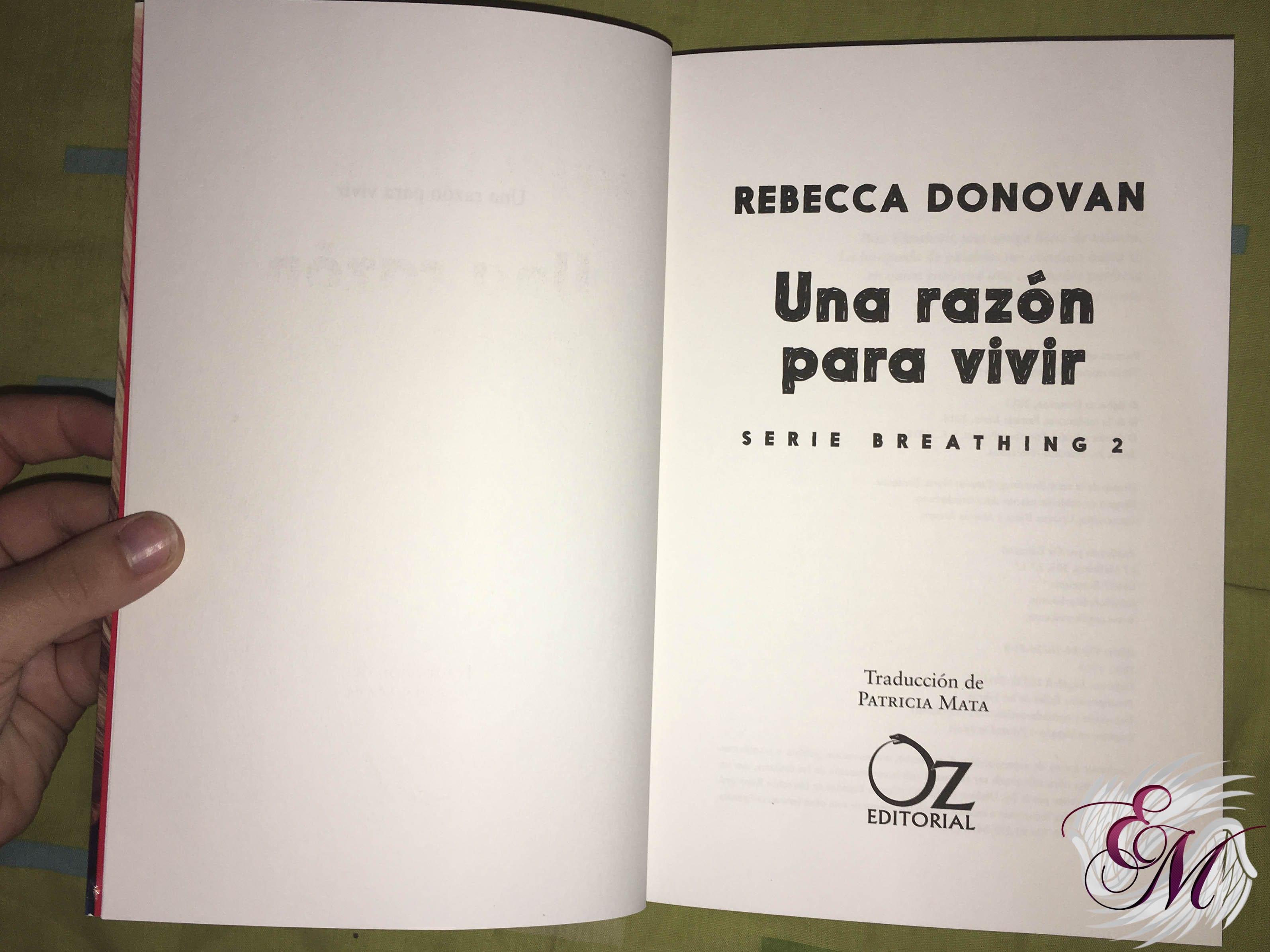 Una razón para vivir, de Rebecca Donovan - Reseña