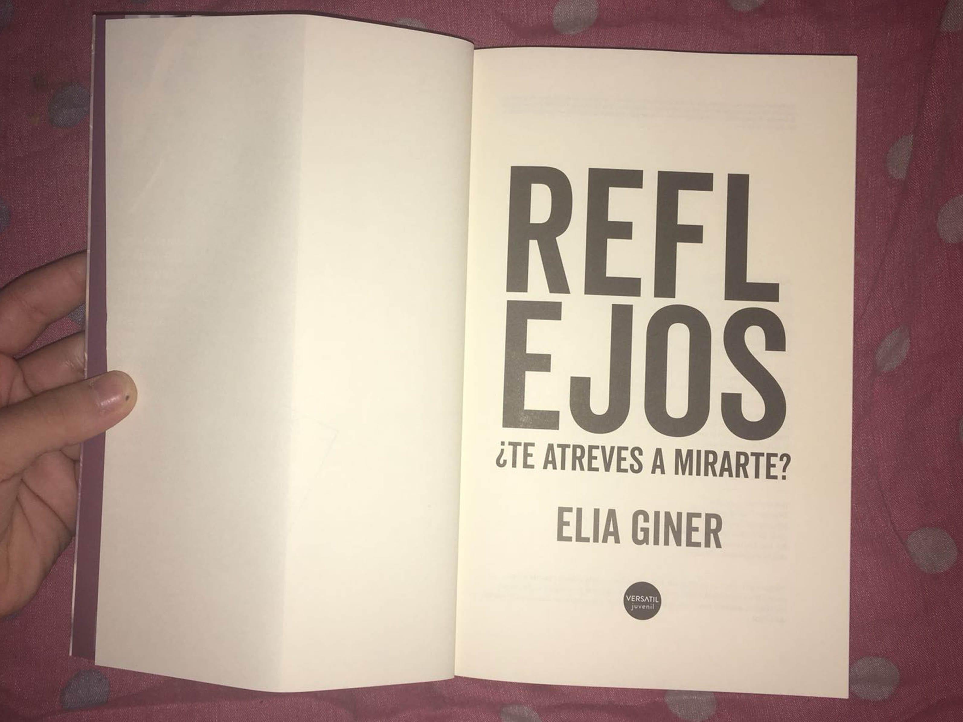 Reflejos, ¿Te atreves a mirarte?, de Elia Giner - Reseña