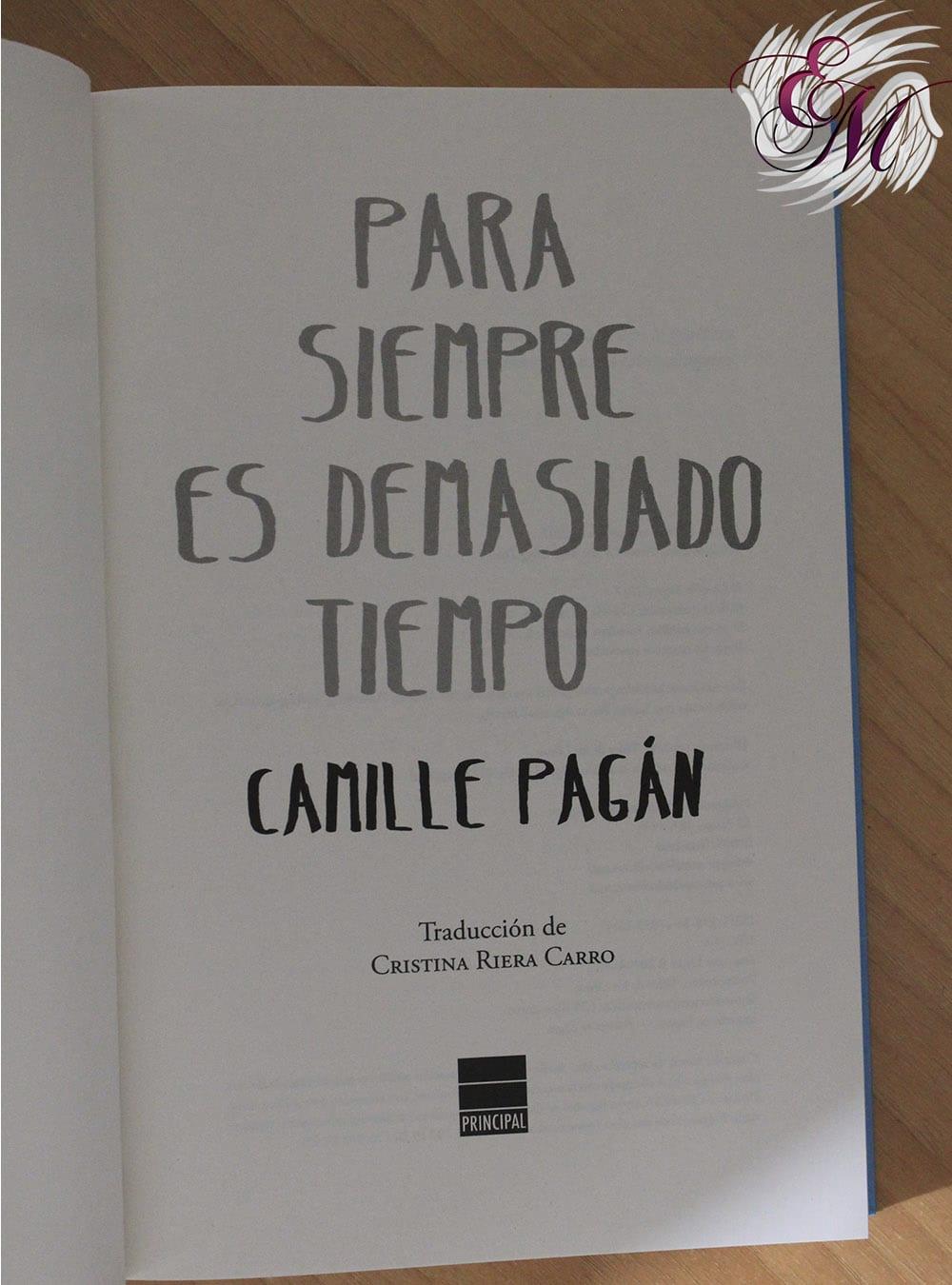 Para siempre es demasiado tiempo, de Camille Pagán - Reseña