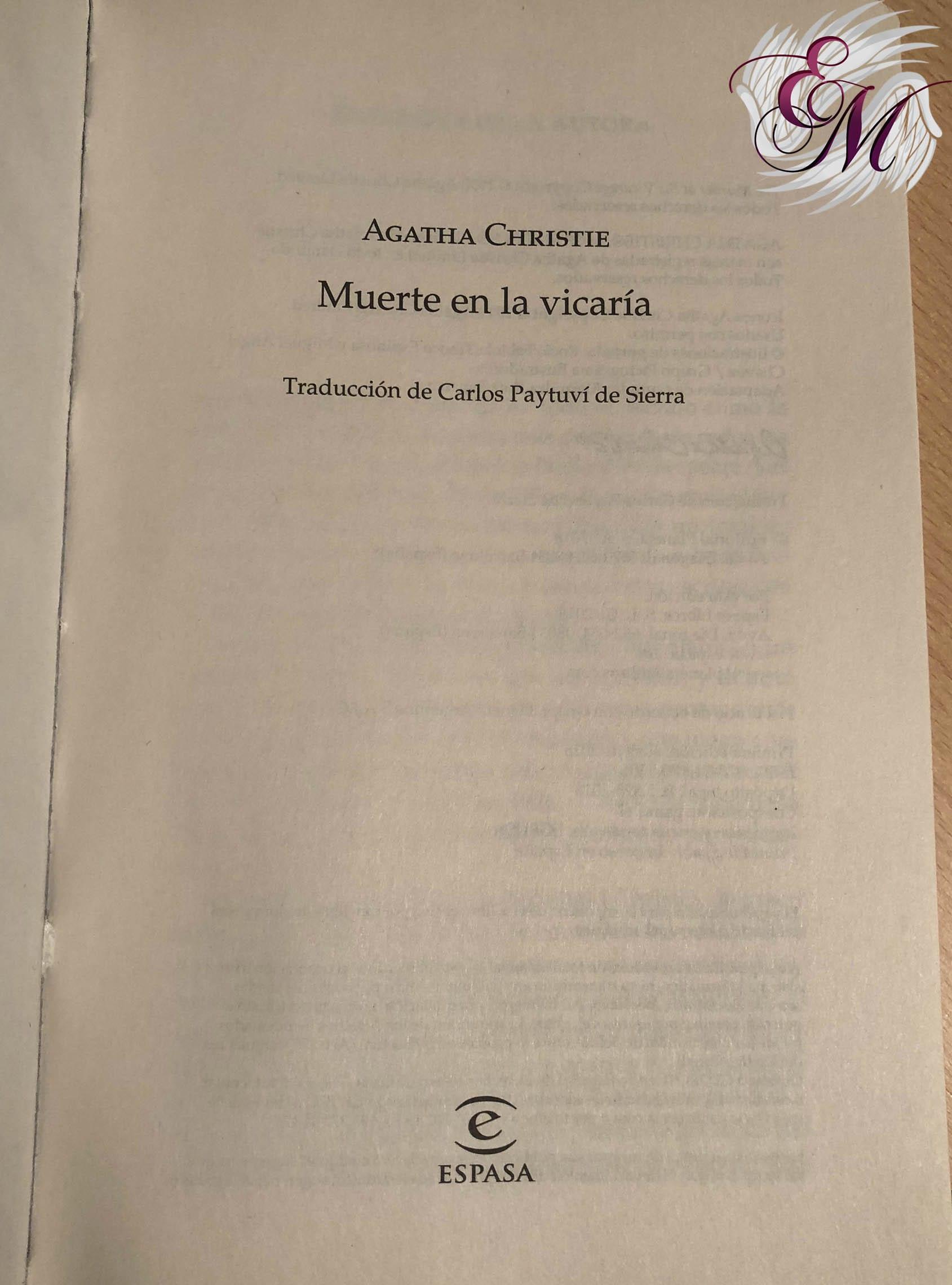 Muerte en la vicaría, de Agatha Christie - Reseña