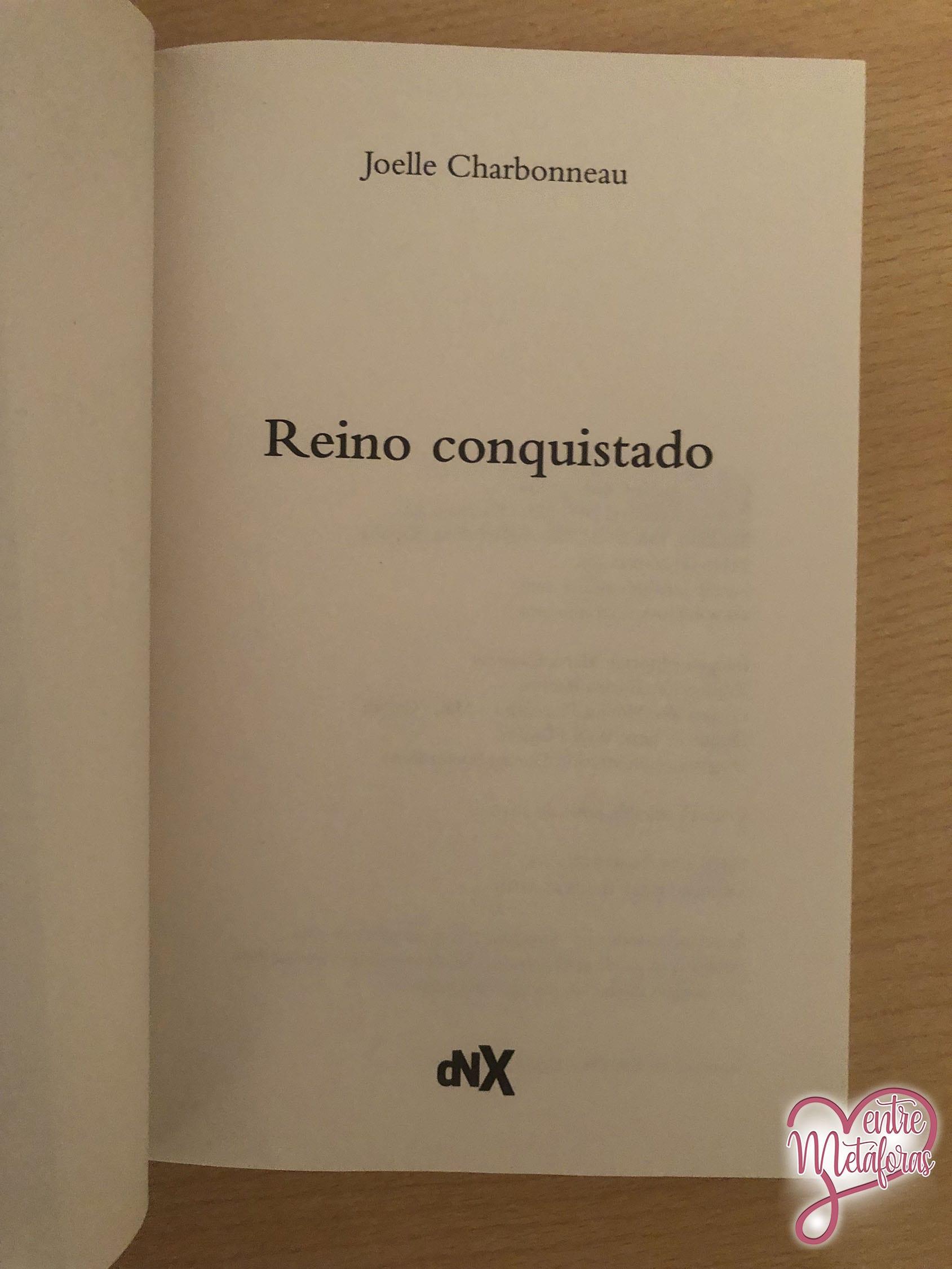 Reino conquistado, de Joelle Charbonneau - Reseña