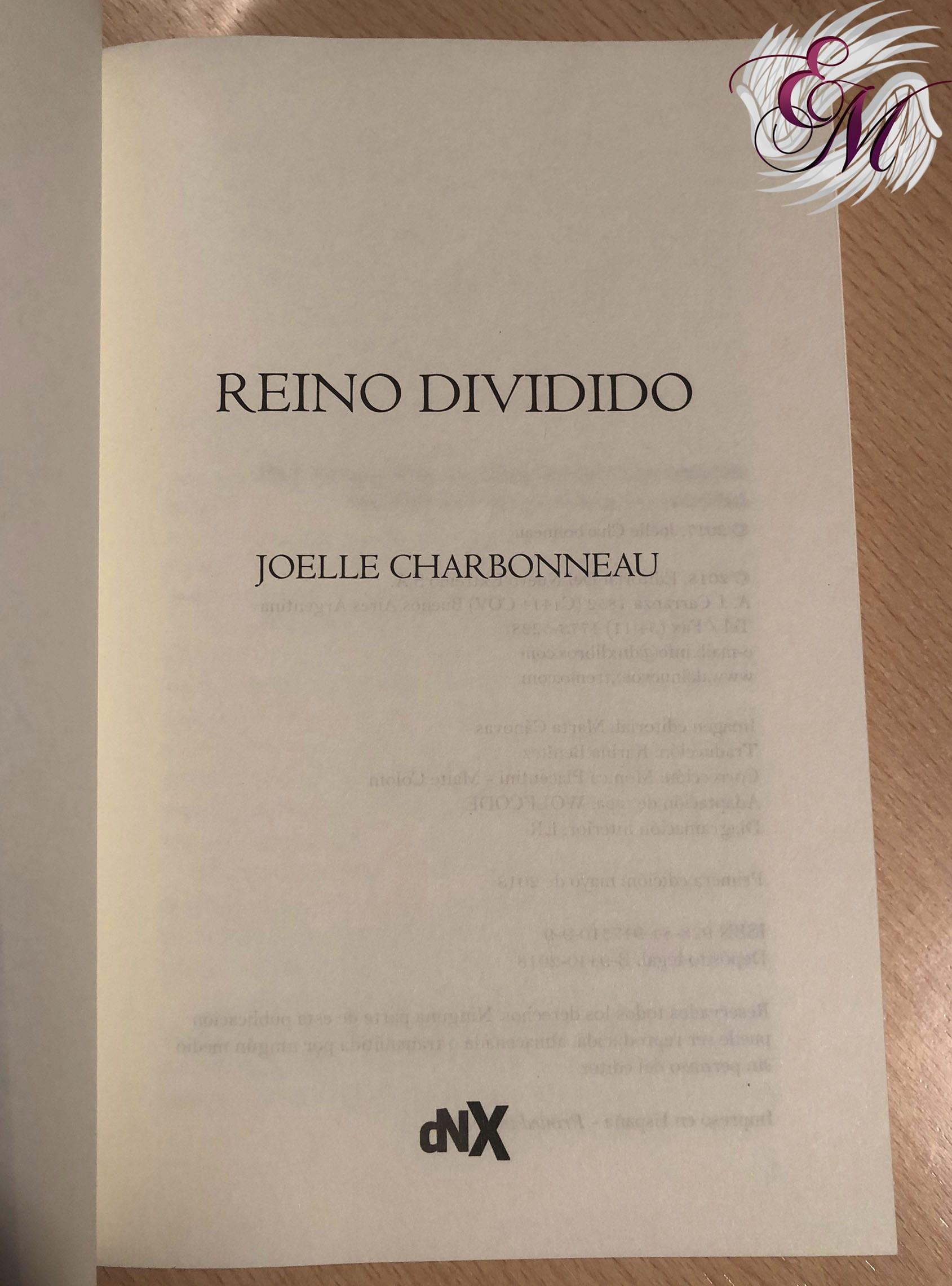 Reino dividido, de Joelle Charbonneau - Reseña